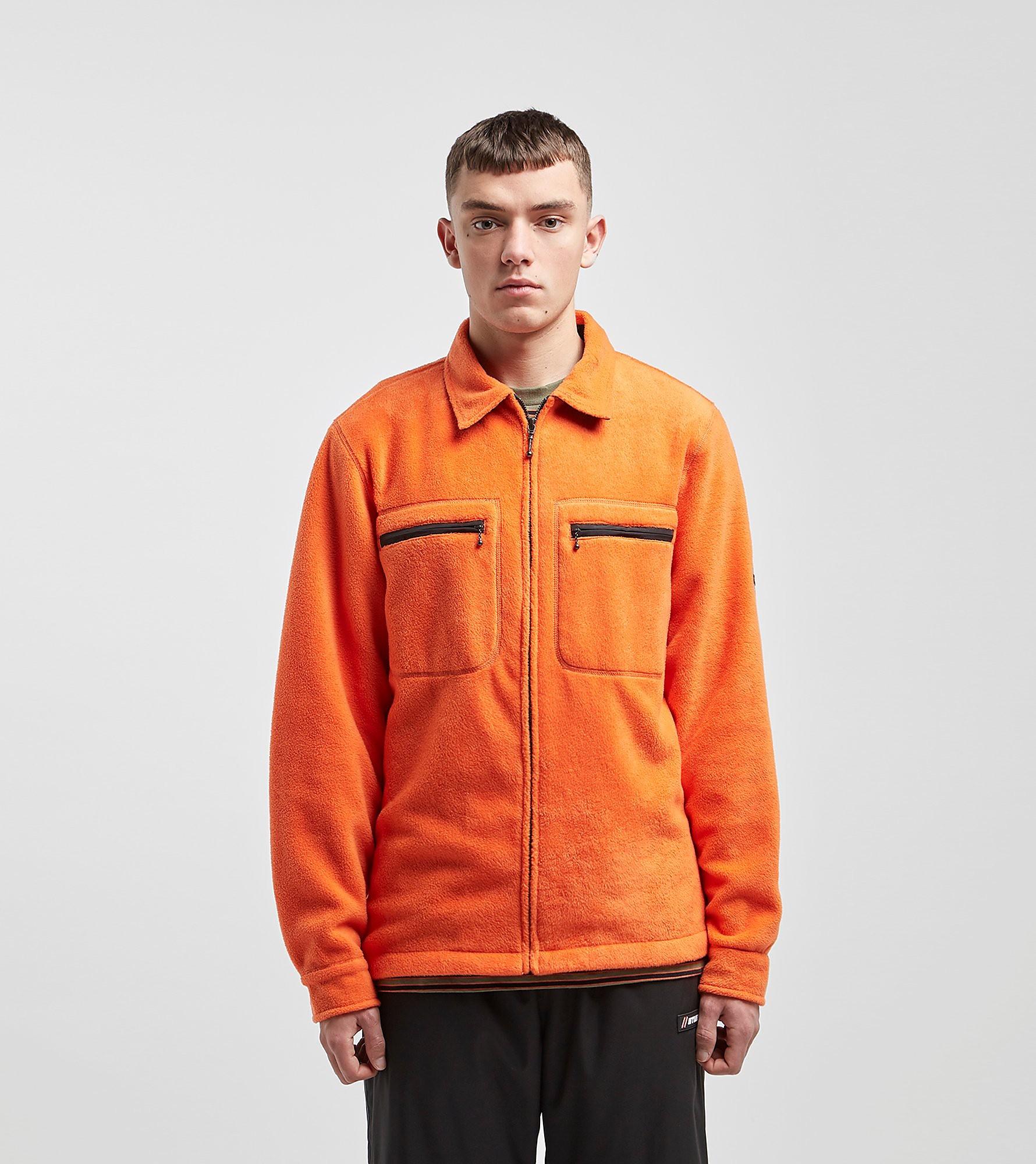 Stussy Polar Full Zip Fleece Jacket, Arancio
