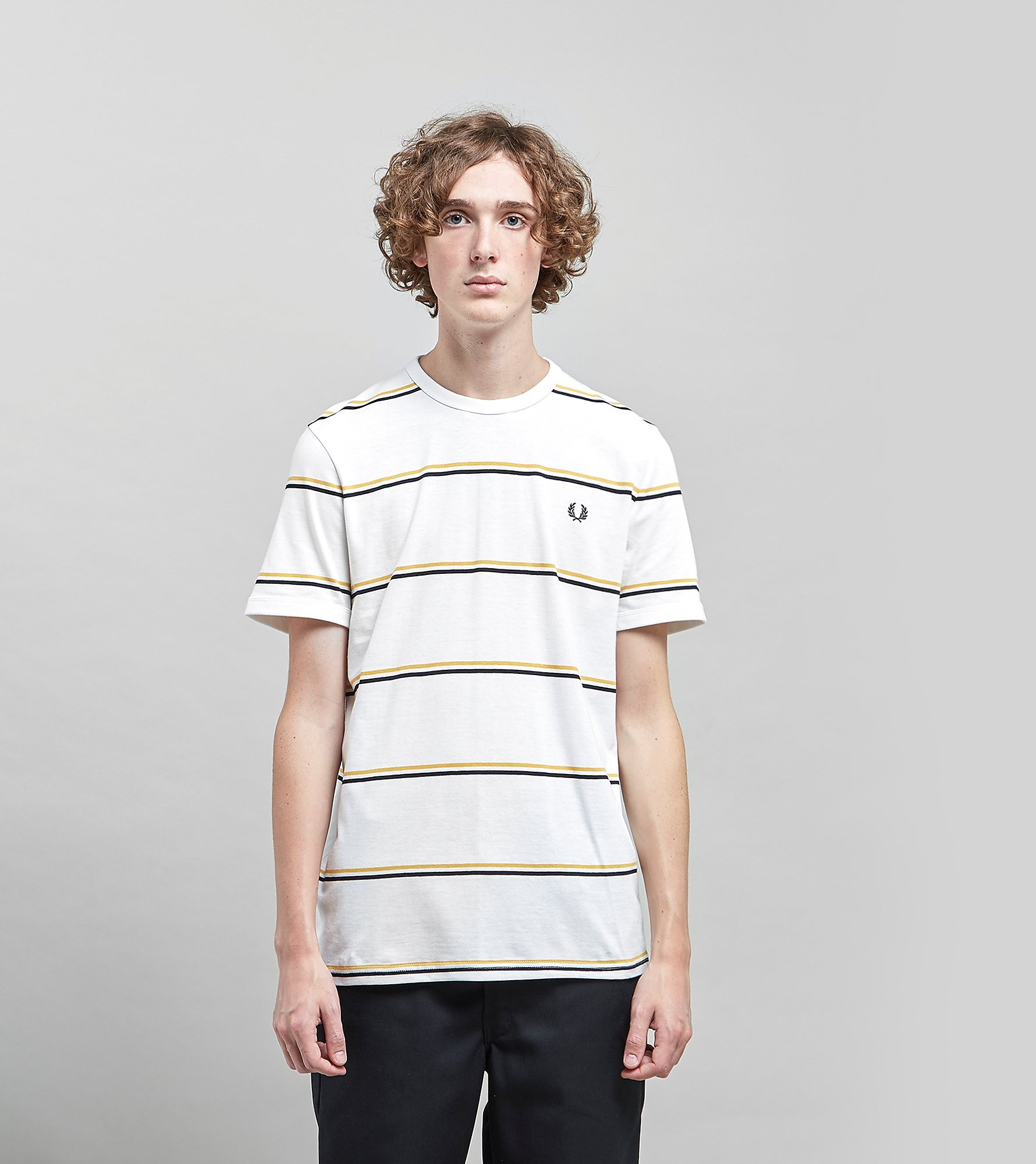 Fred Perry Striped T-Shirt - size?exclusive, Wit