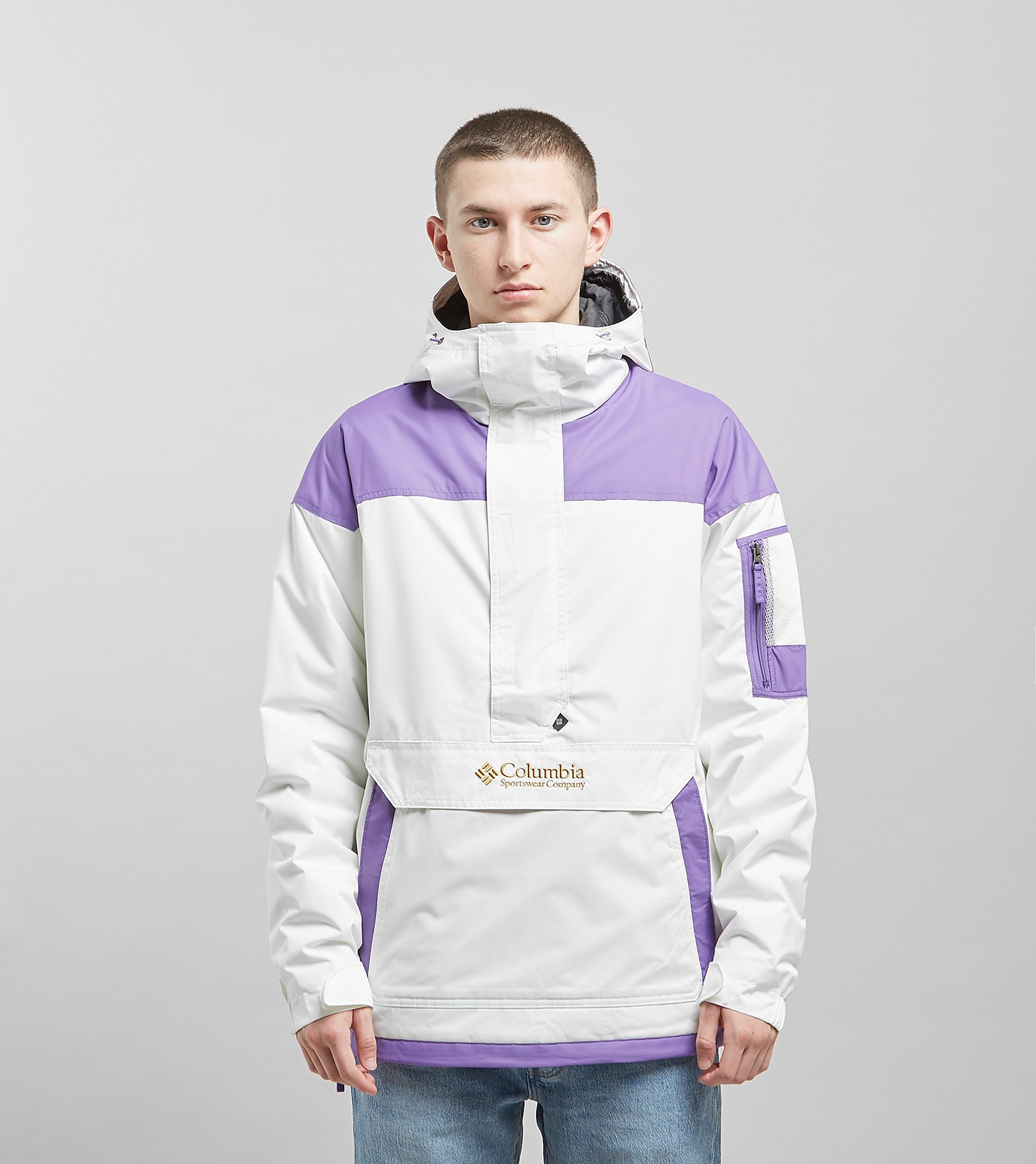 Columbia Challenger Pullover Jacket - size? Exclusive, Bianco