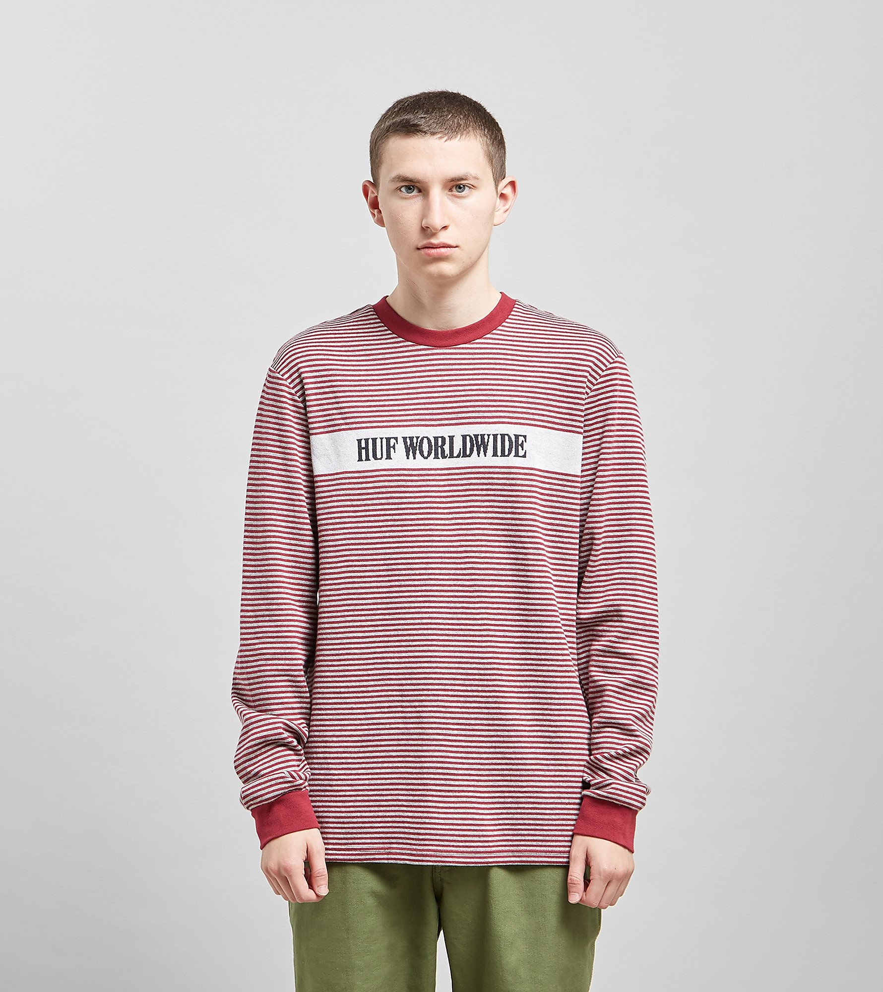 HUF Latitude Long Sleeved Knit T-Shirt, Rood