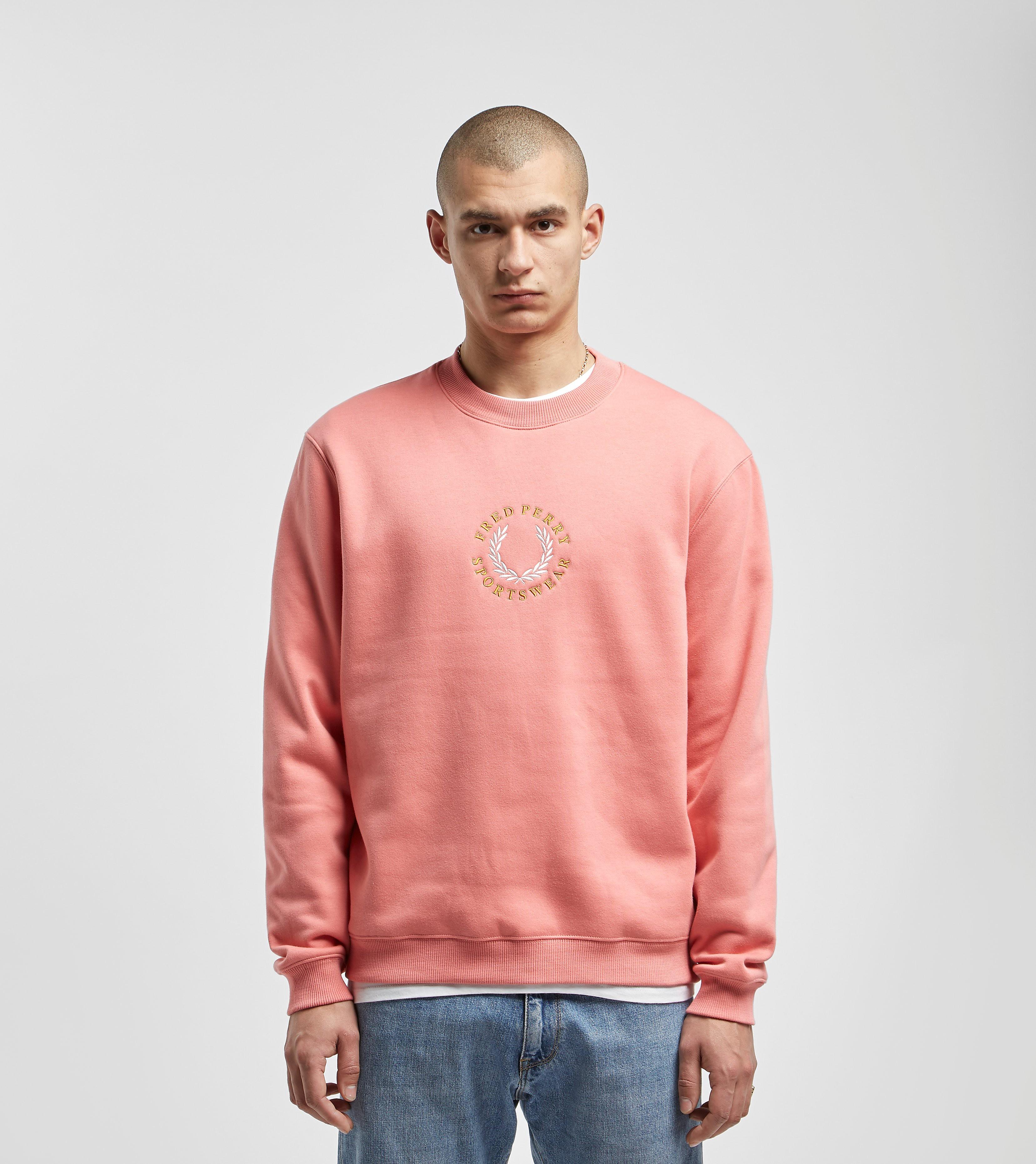 Fred Perry Global Branded Sweatshirt Pink