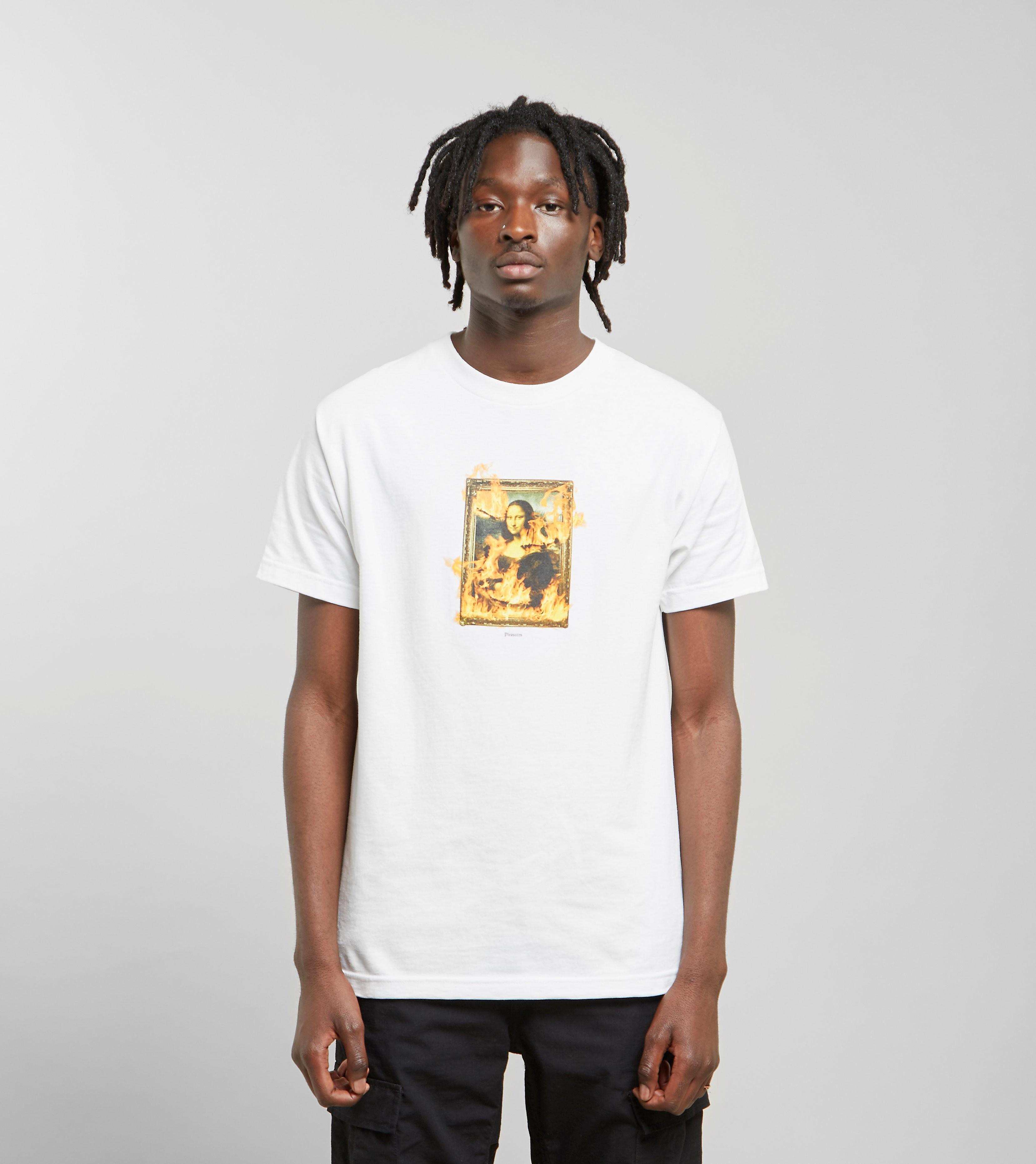 PLEASURES Burn T-Shirt, Wit