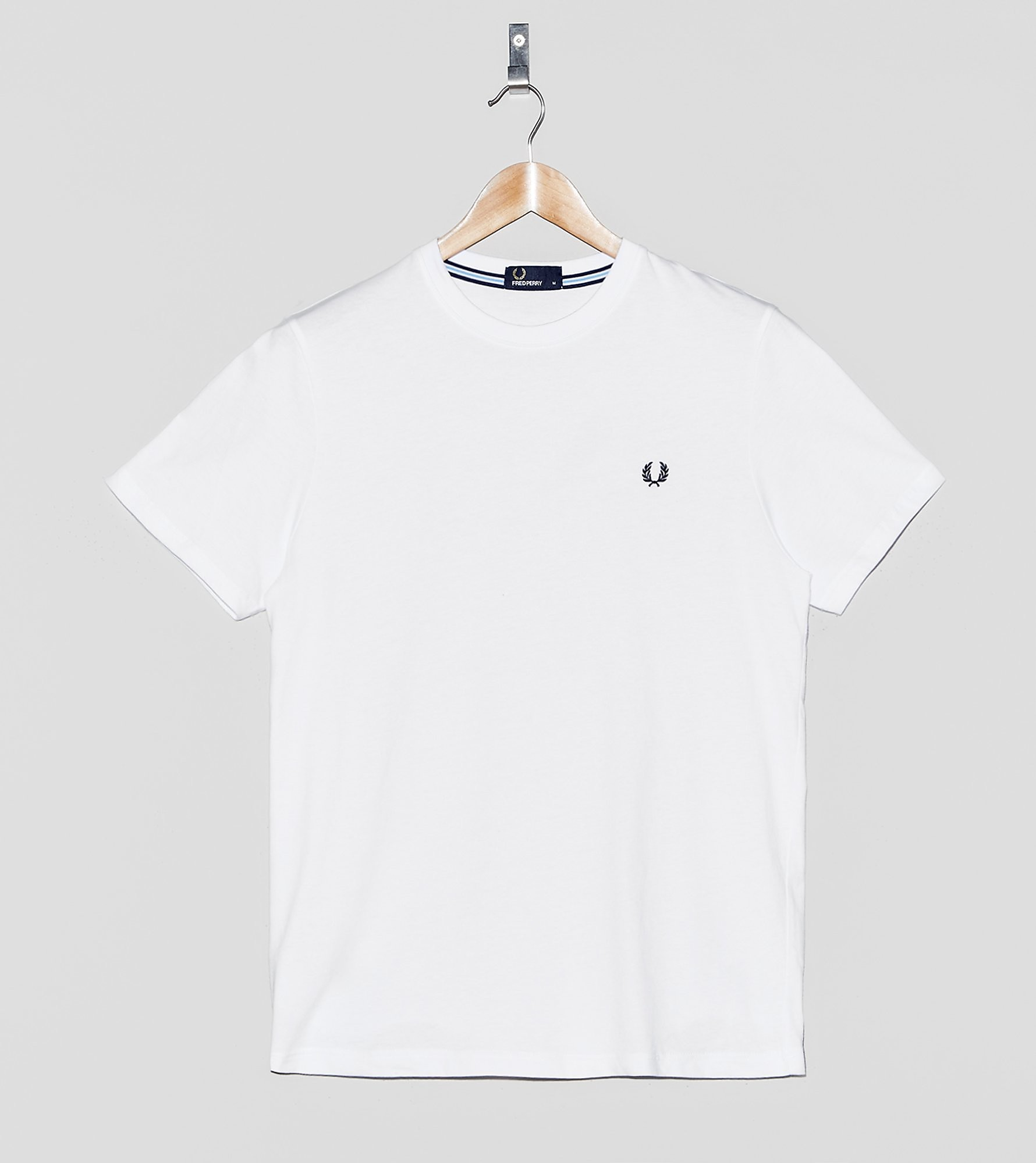 Fred Perry Camiseta Crew Neck, blanco