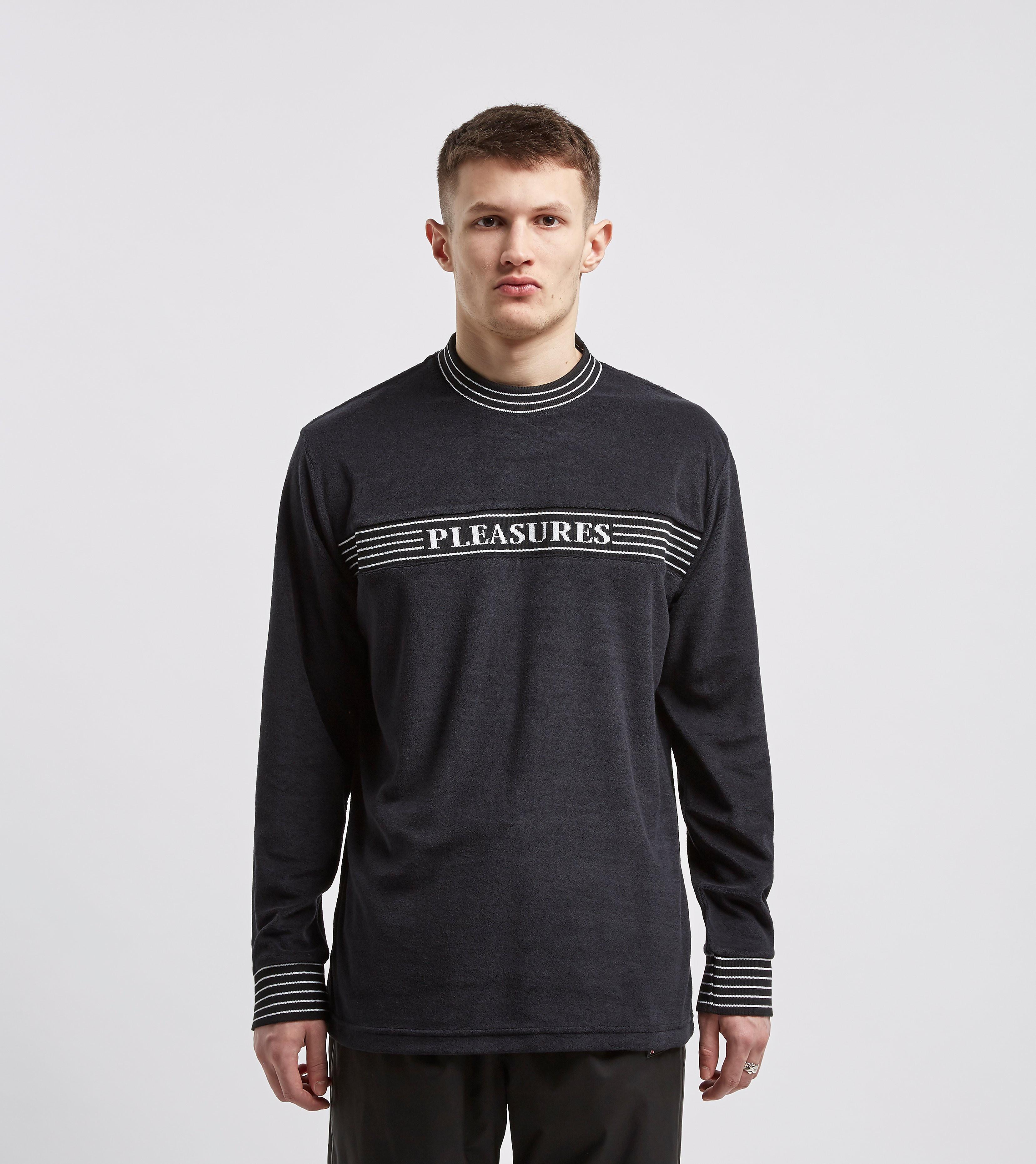 PLEASURES T-Shirt à Manches Longues Fuzzy, Noir
