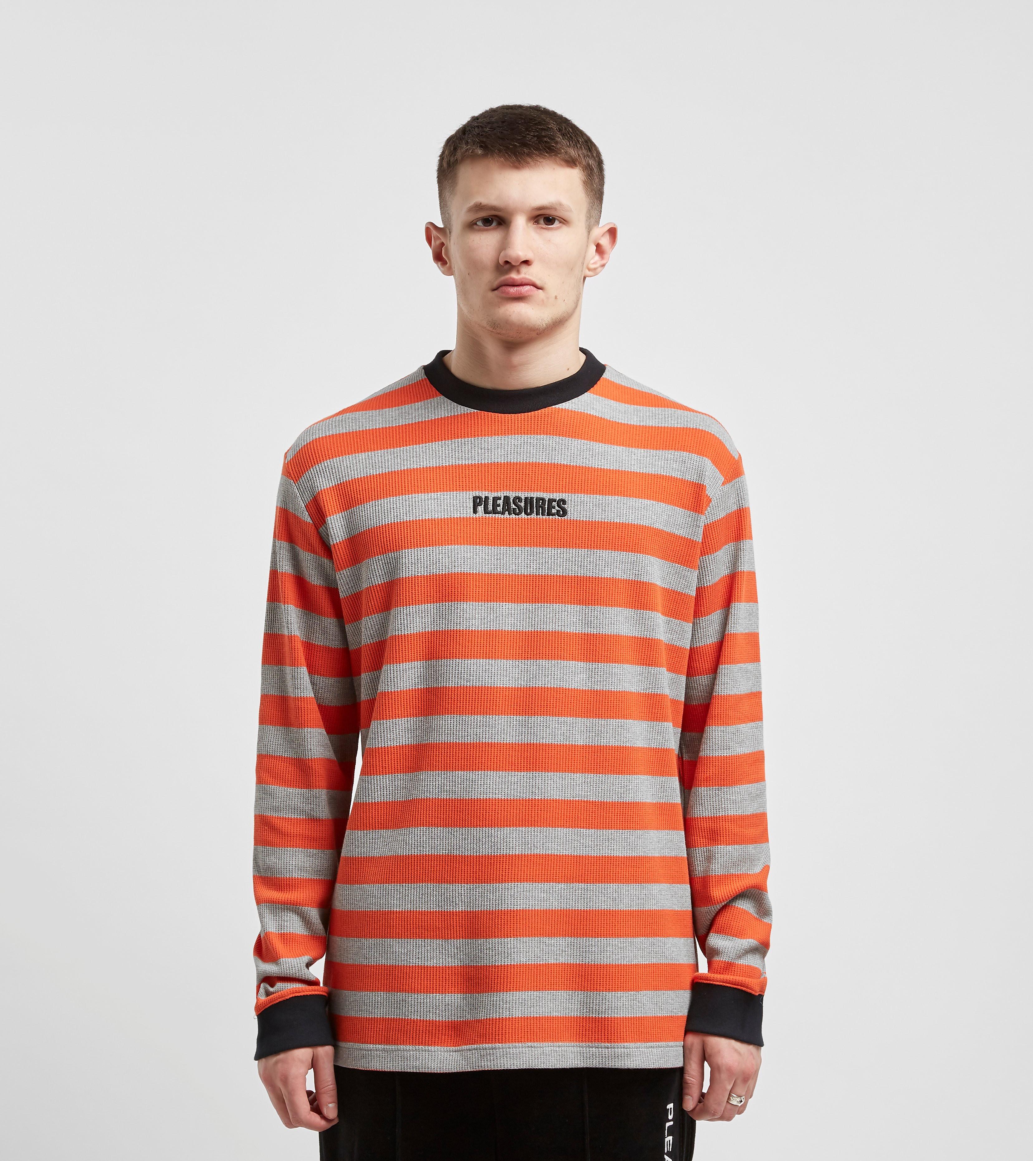 PLEASURES Waffle Stripe Long Sleeve T-Shirt