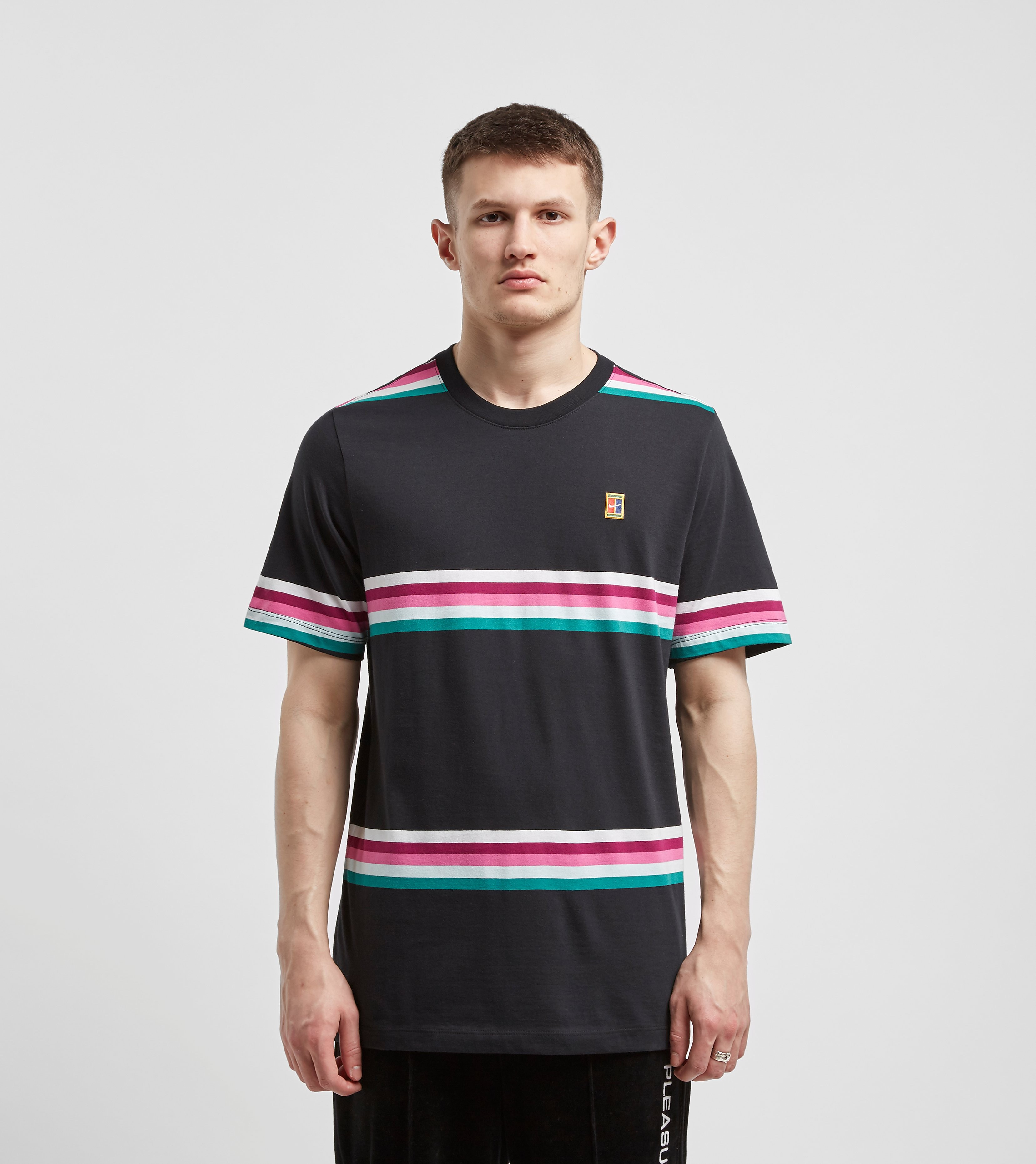 Nike Court Stripe T-Shirt, Zwart