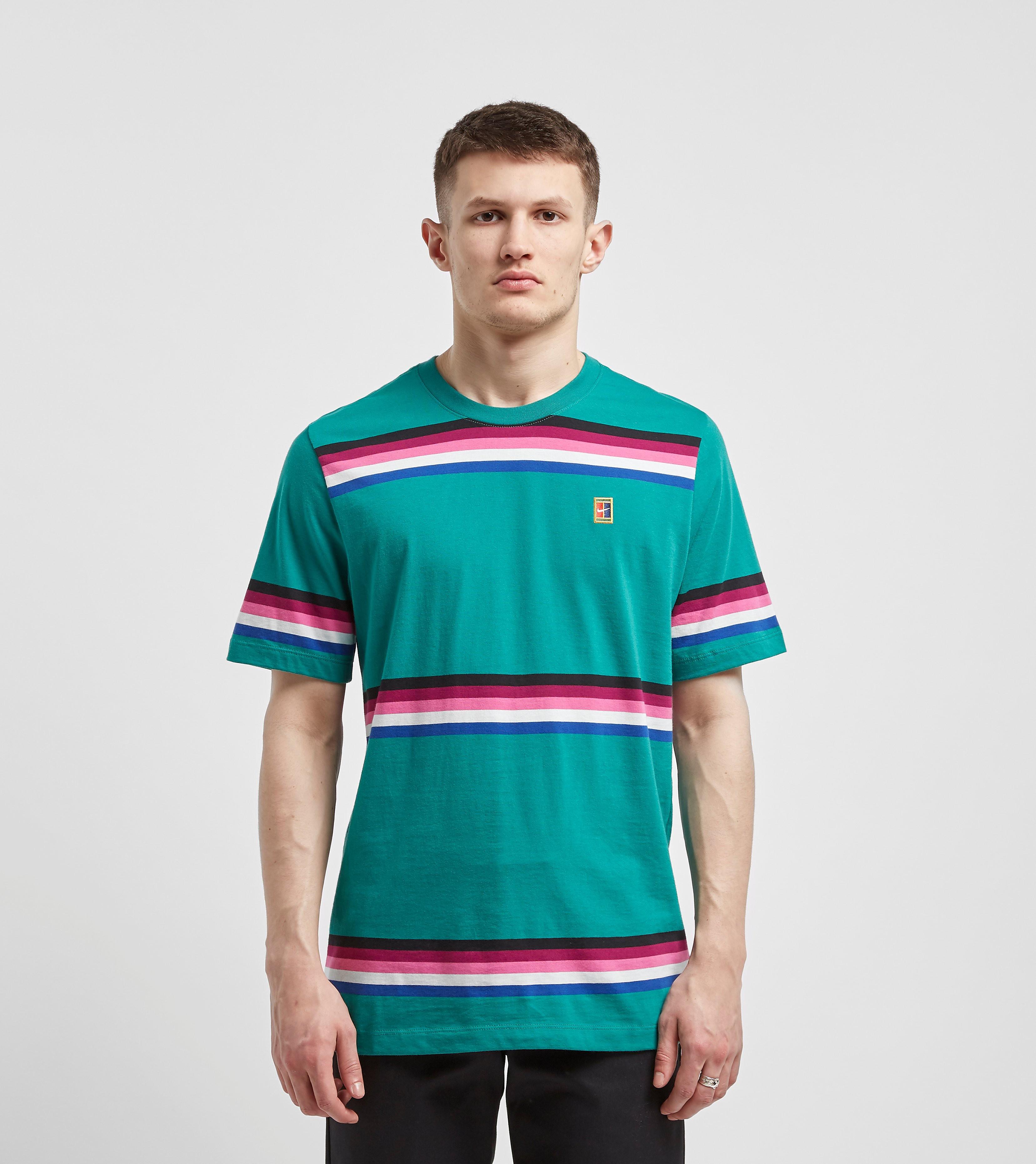 Nike Court Stripe T-Shirt, Groen