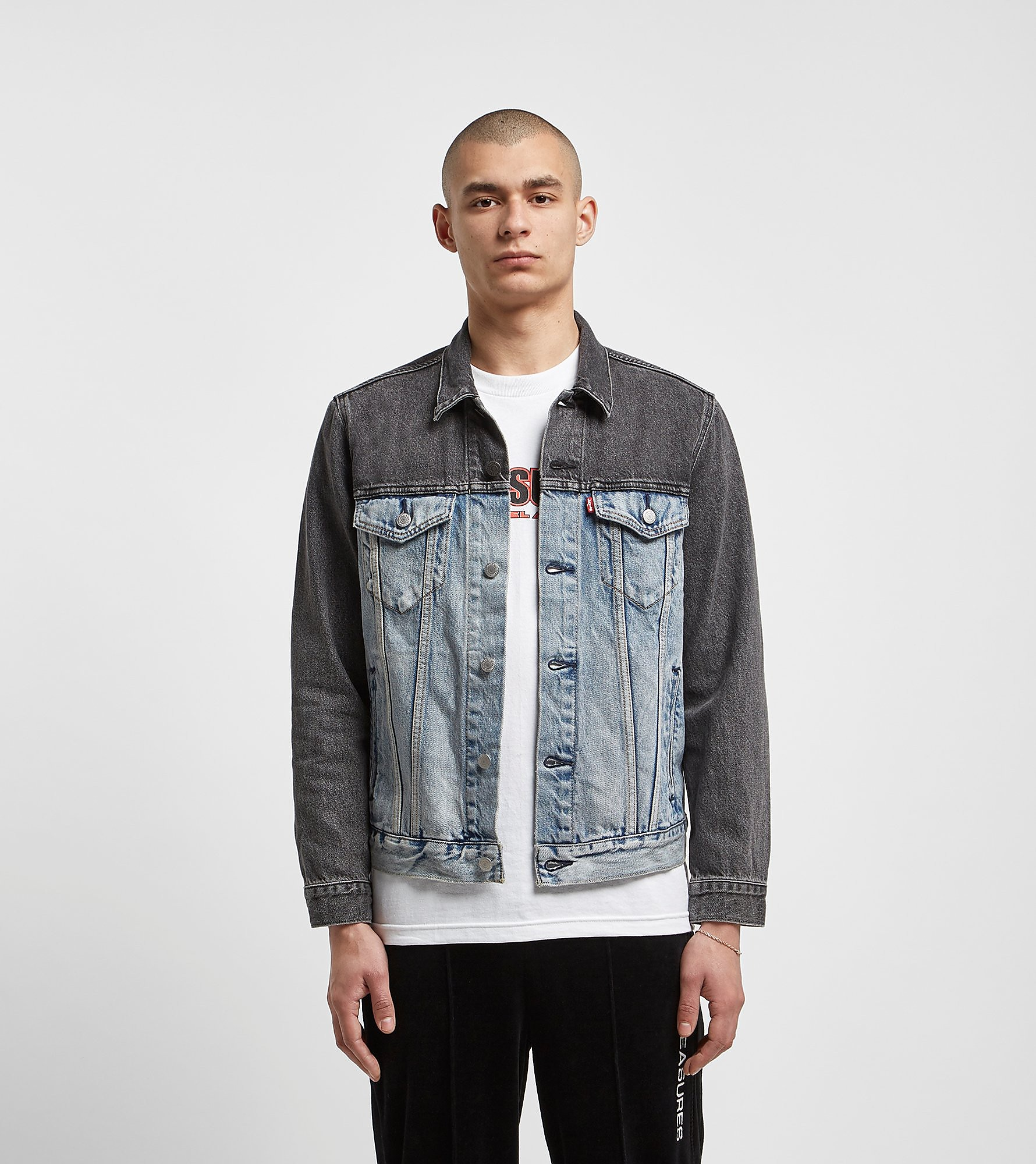 Levis Two Tone Denim Trucker Jacket, Celeste