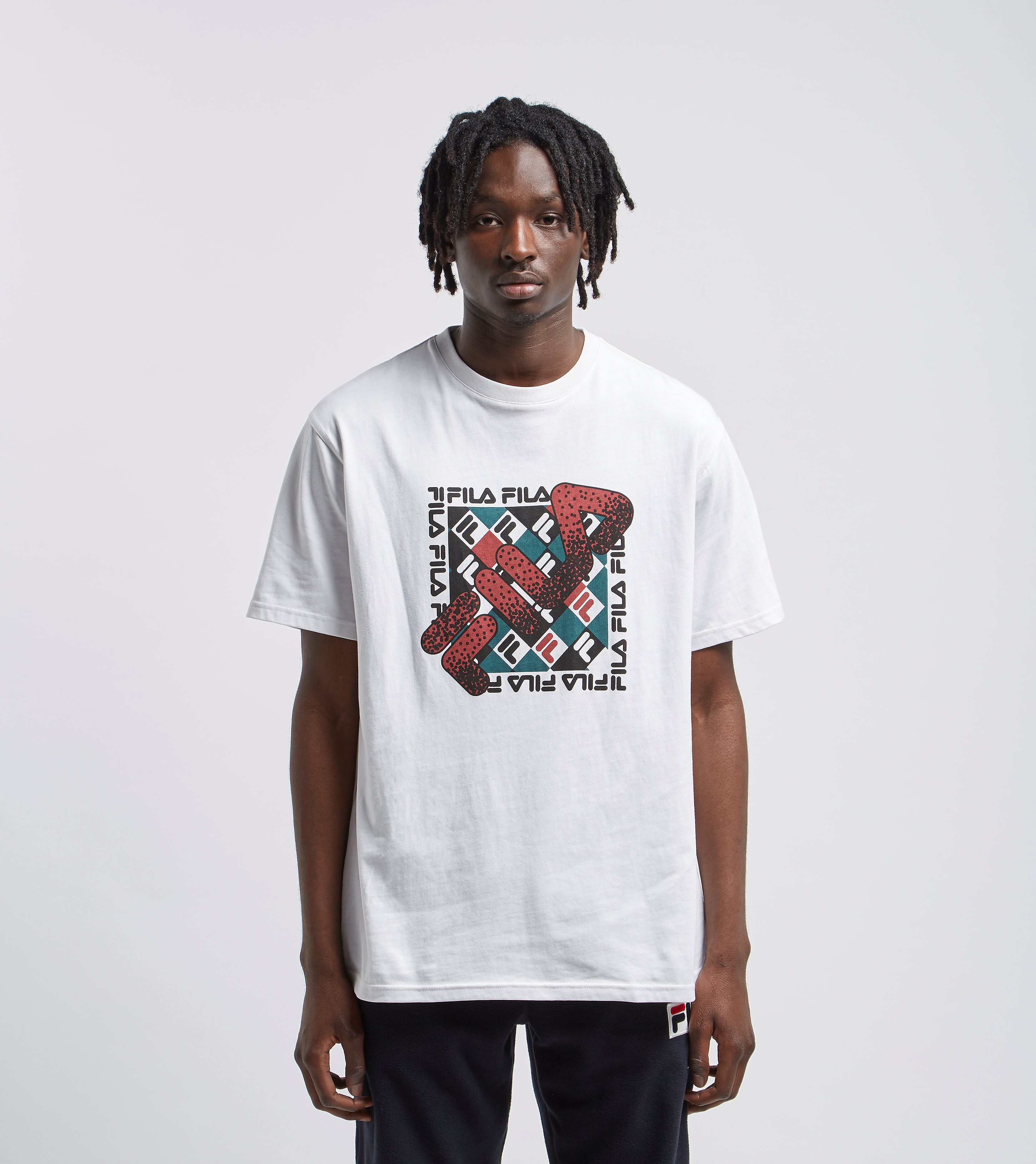Fila Vintage Check T-Shirt - size? Exclusive, Wit