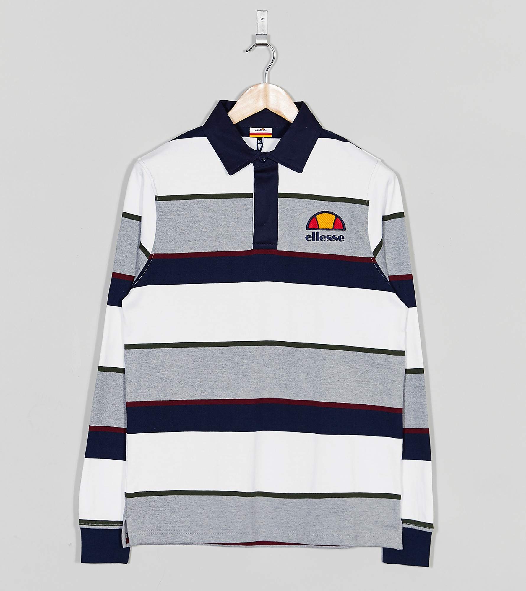 Ellesse Parisse Striped Rugby Shirt  size Exclusive
