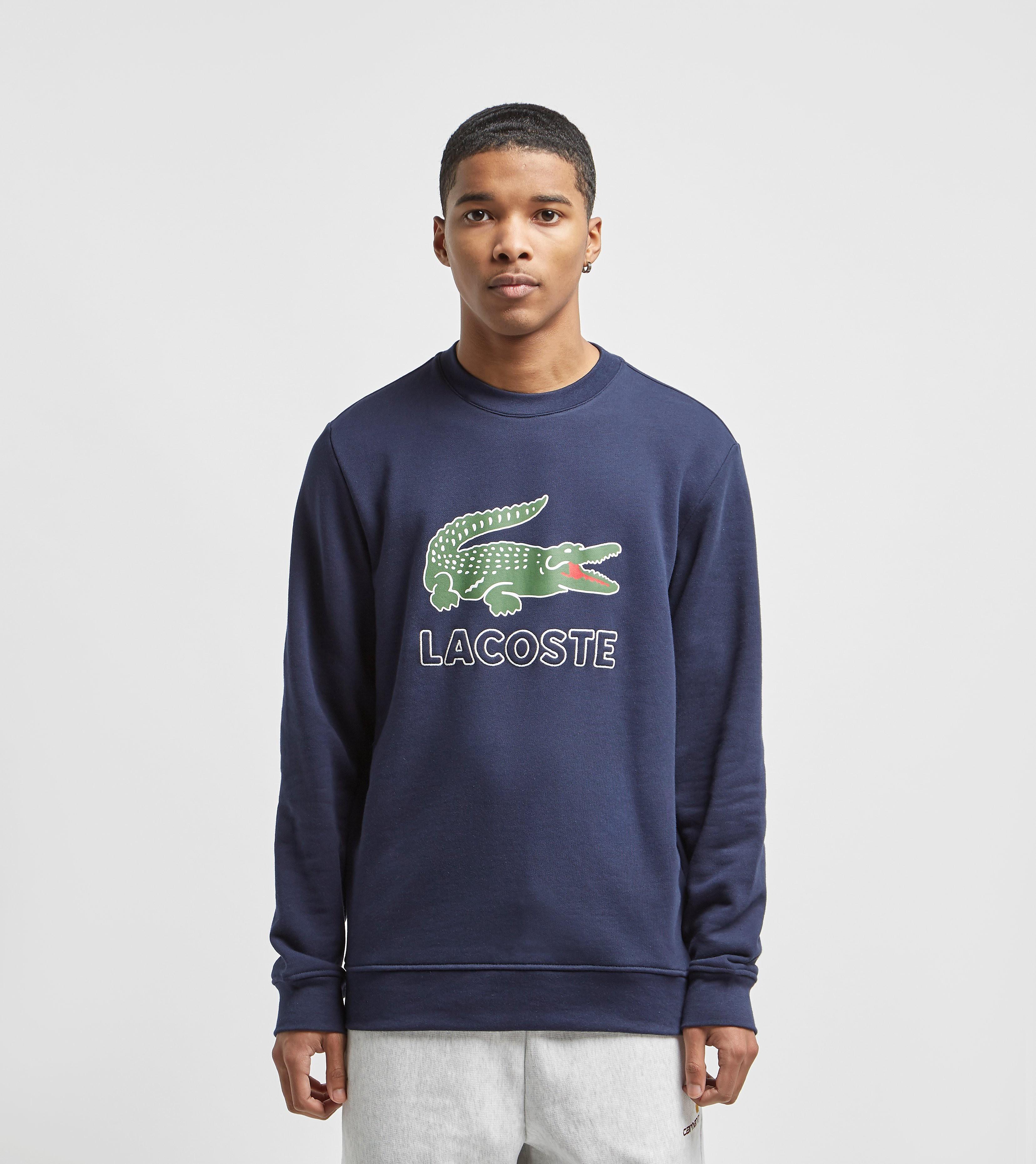 Lacoste Logo Crew Sweatshirt Blue