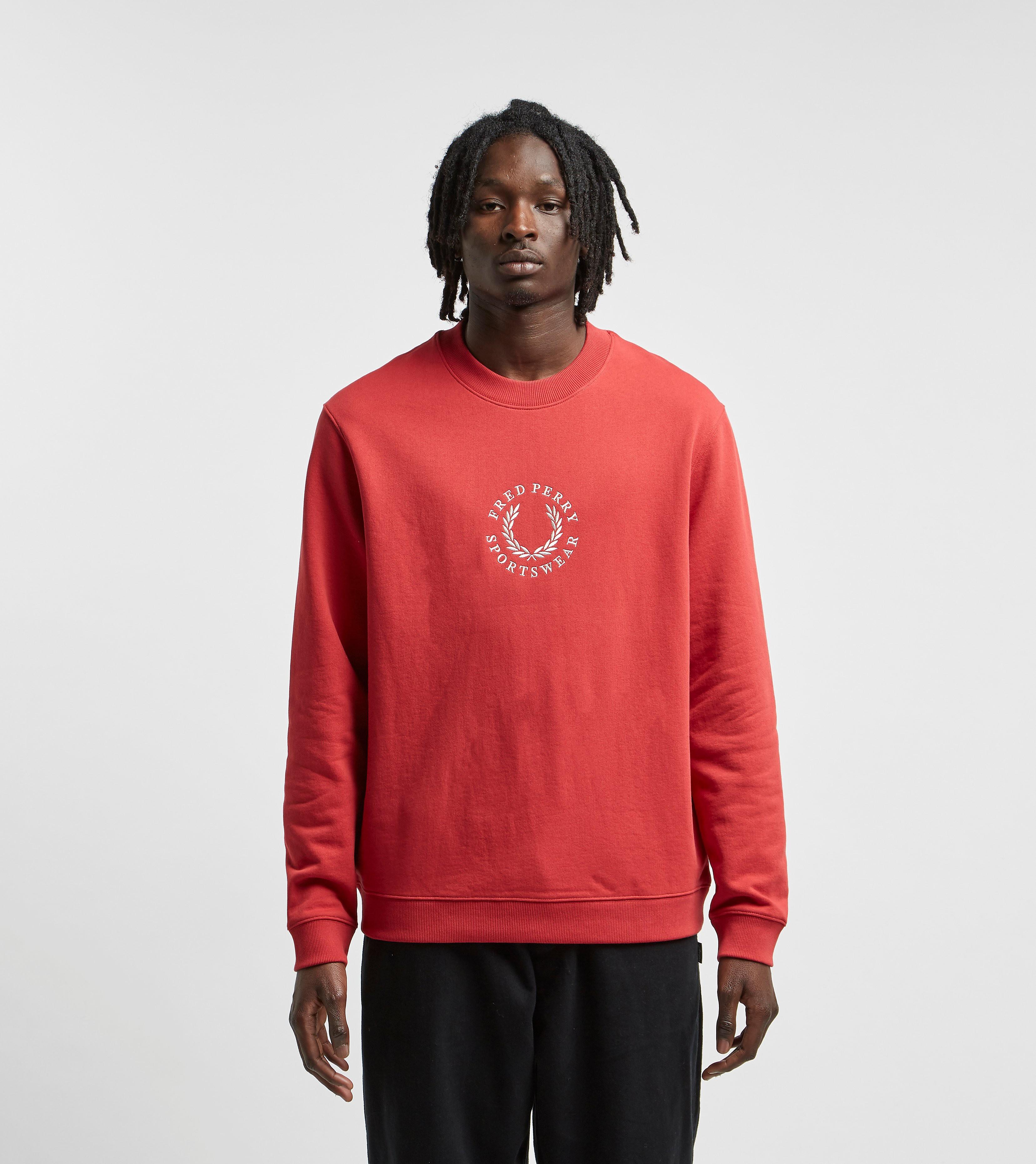 Fred Perry Global Branded Sweatshirt Red