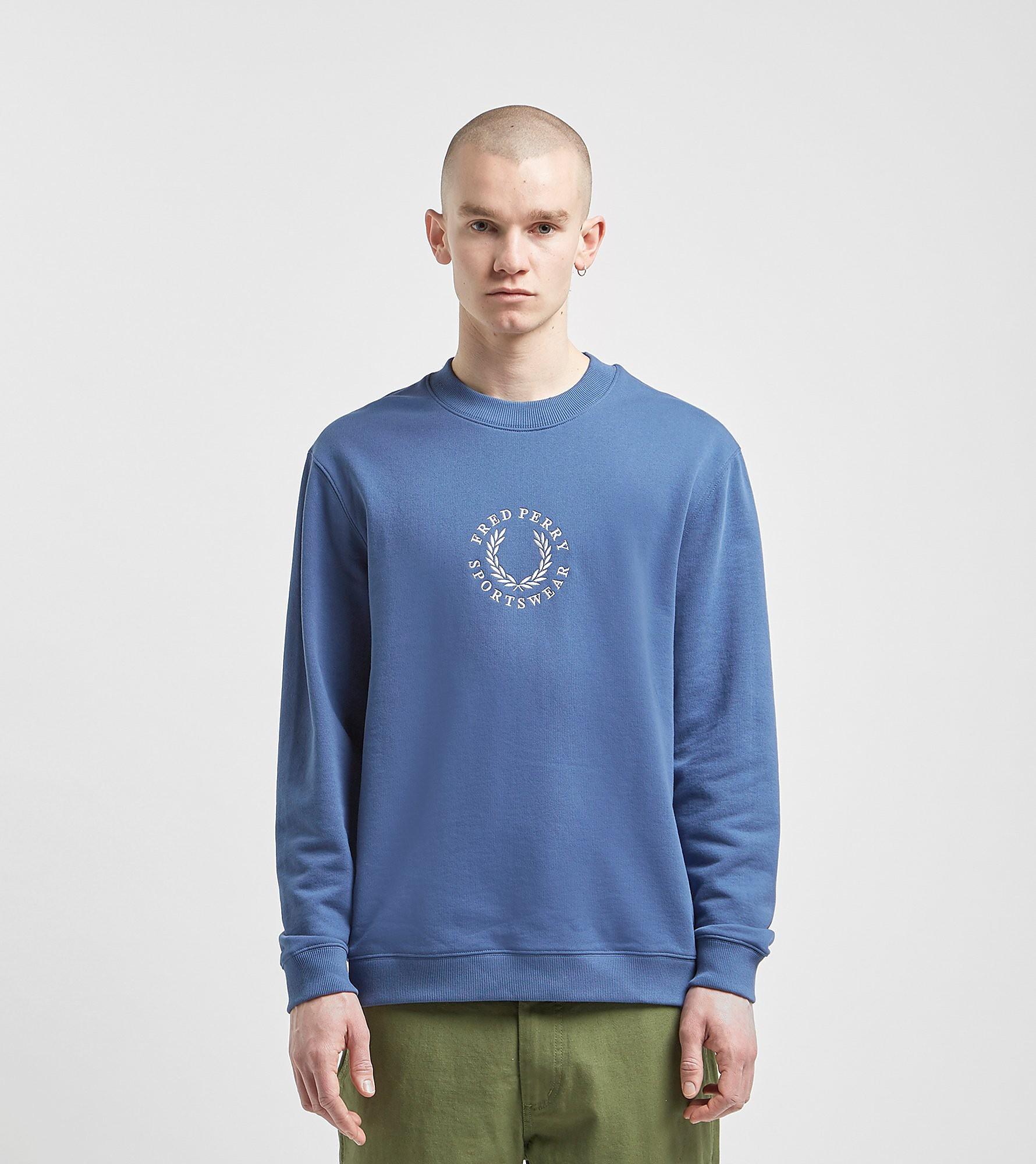 Fred Perry Global Branded Sweatshirt Blue