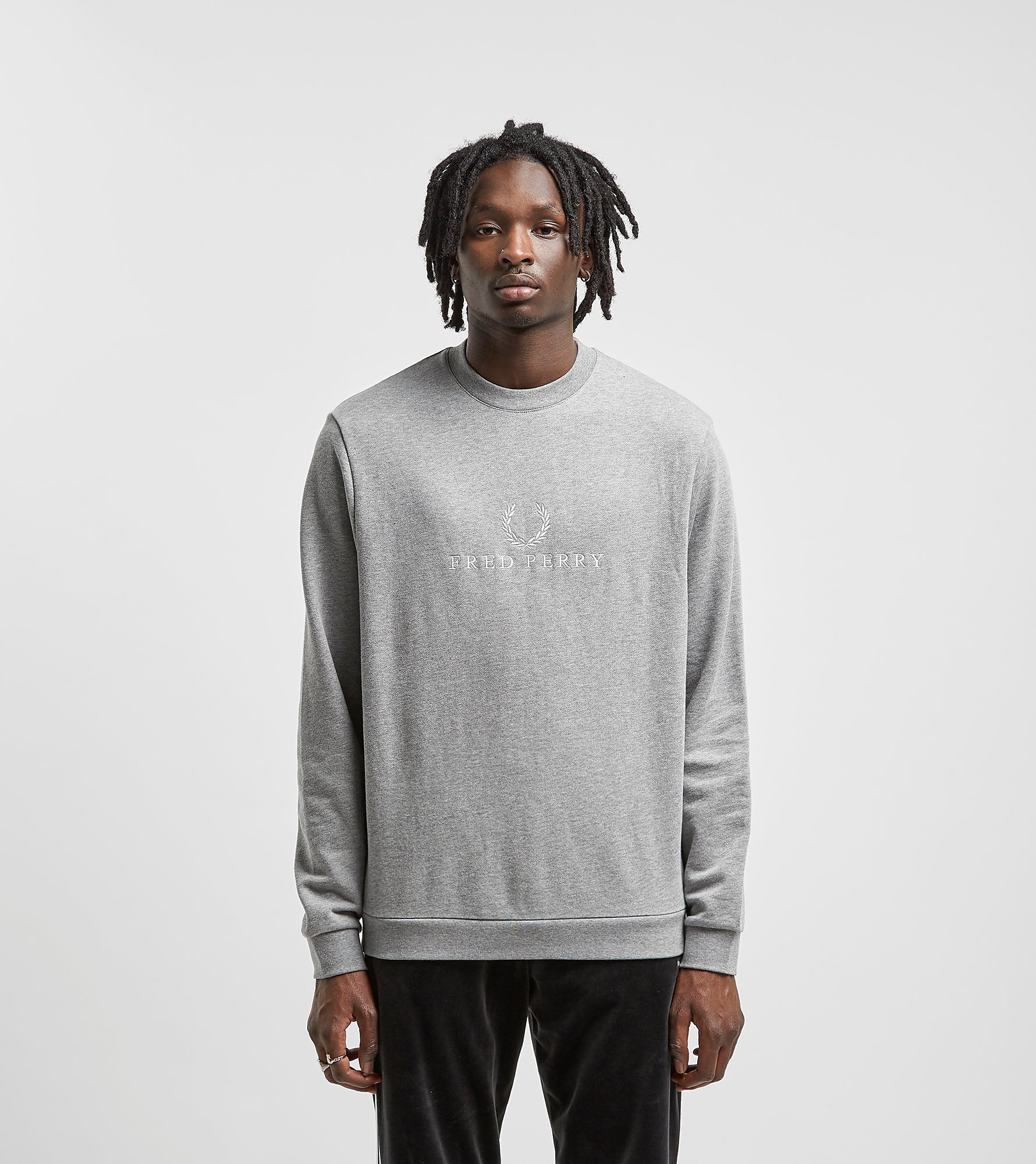 Fred Perry Embroidered Sweatshirt Grey