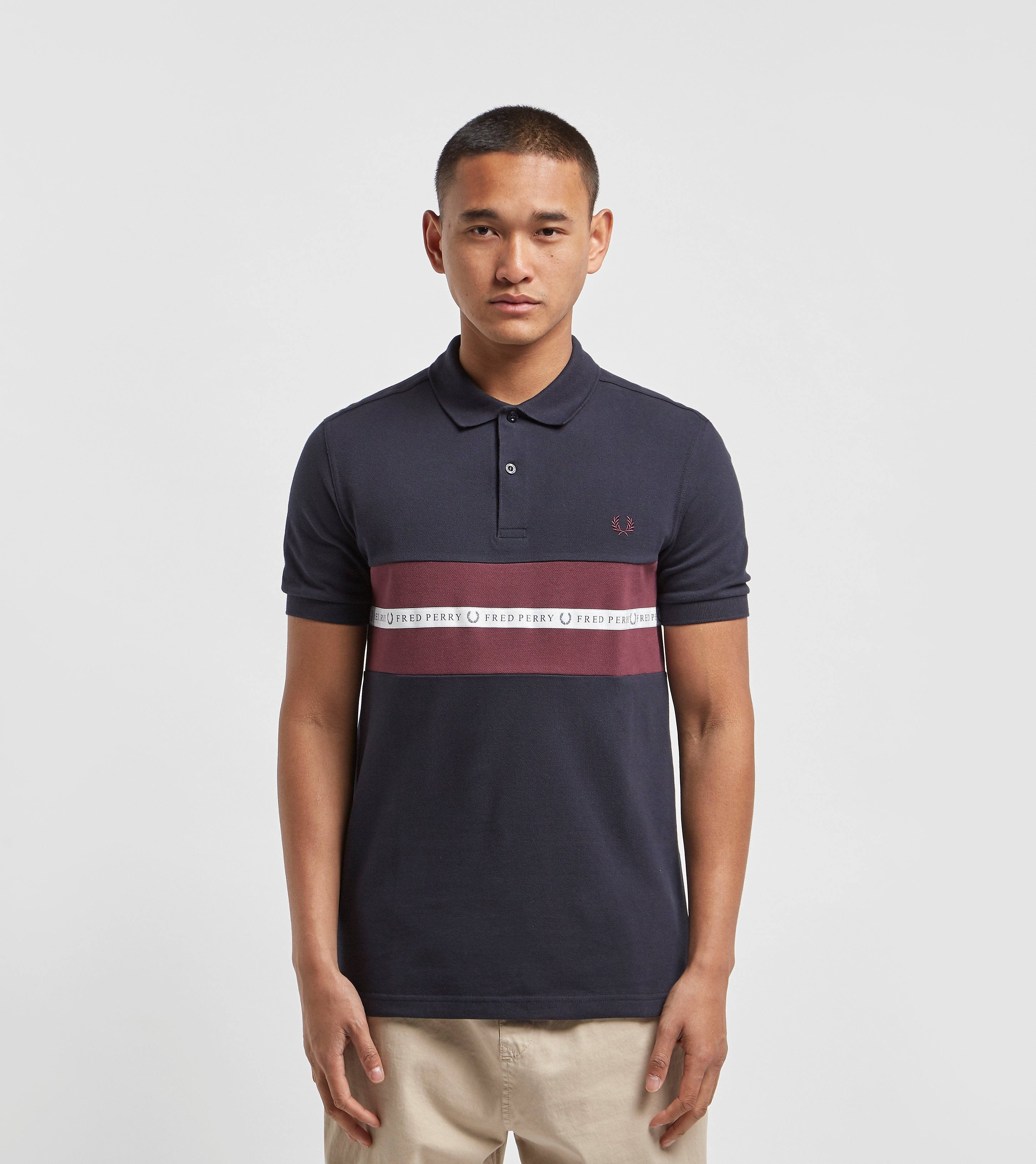 Fred Perry Sports Tape Polo Shirt Navy