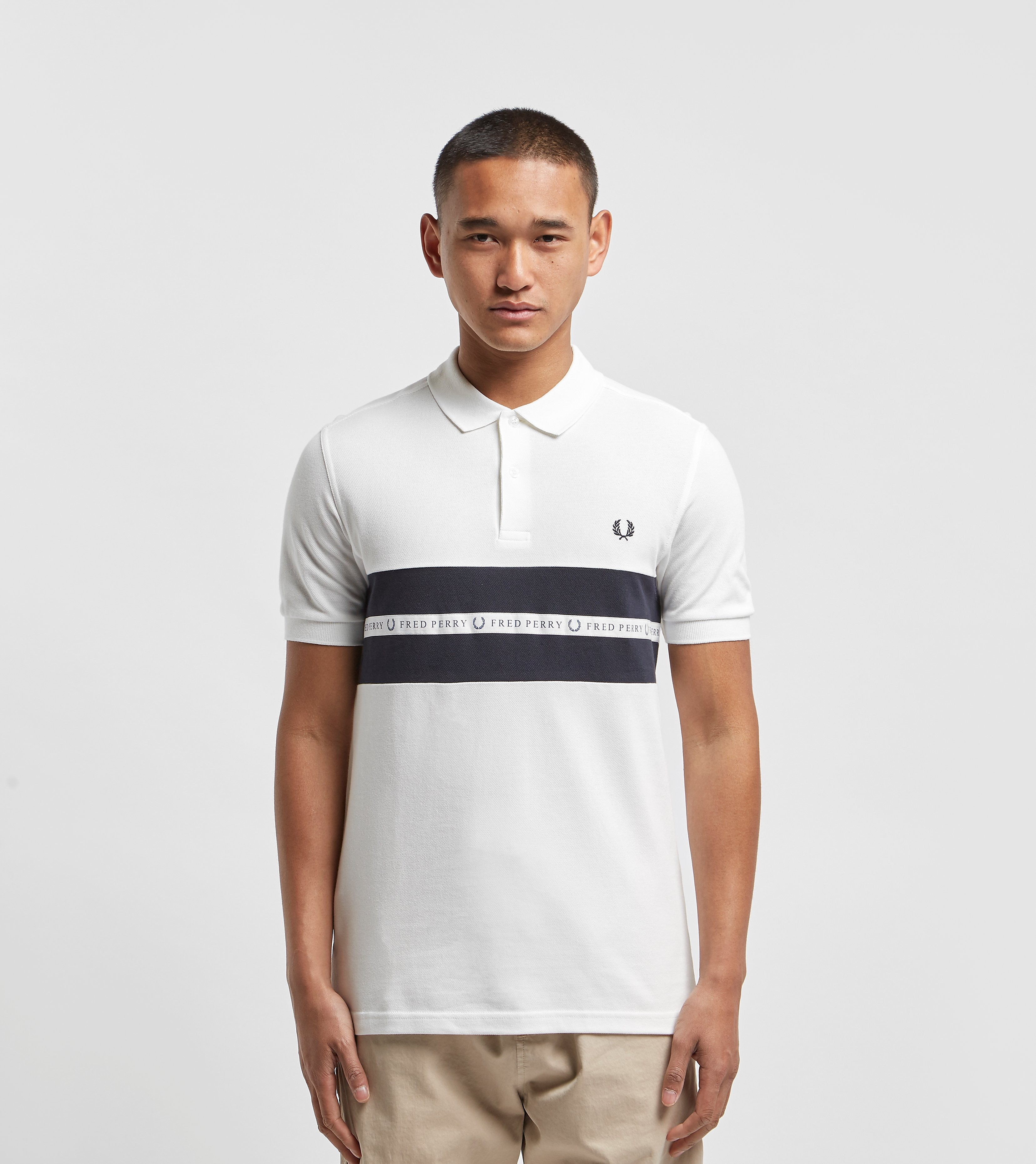 Fred Perry Sports Tape Polo Shirt White