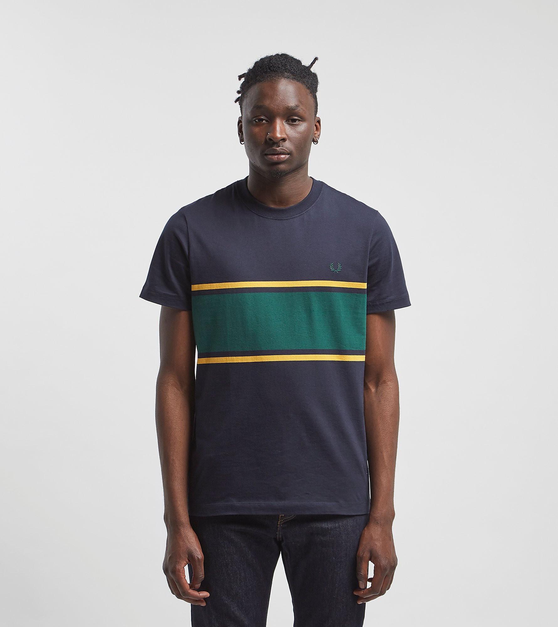 Fred Perry Colour Block T-Shirt, Zwart