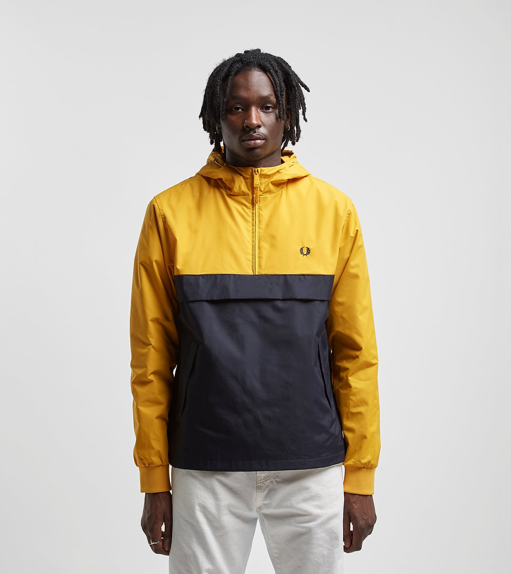 Fred Perry Half Zip Panelled Jacket Yellow/Blue