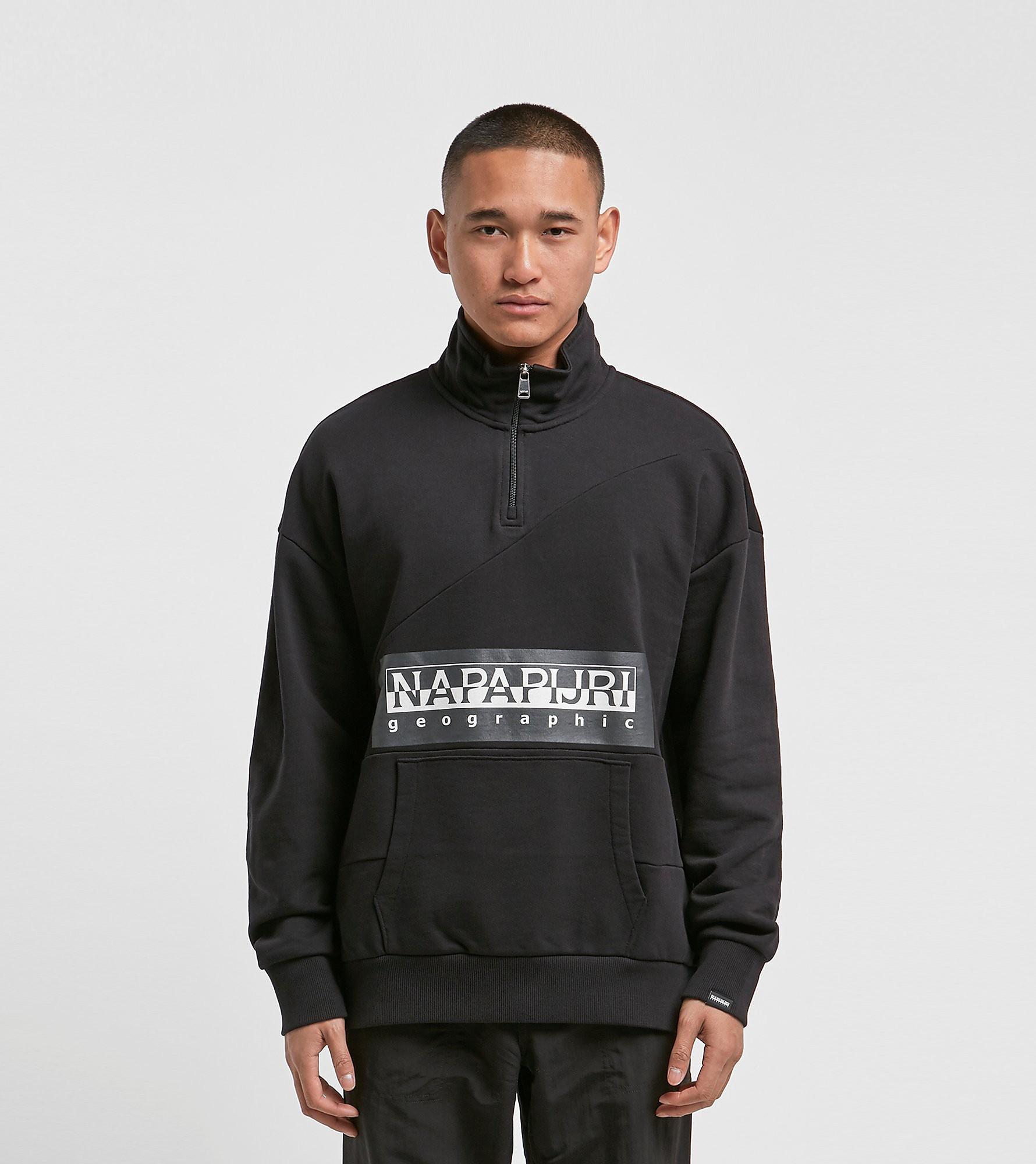 Napapijri Bek Half Zip Sweatshirt Black