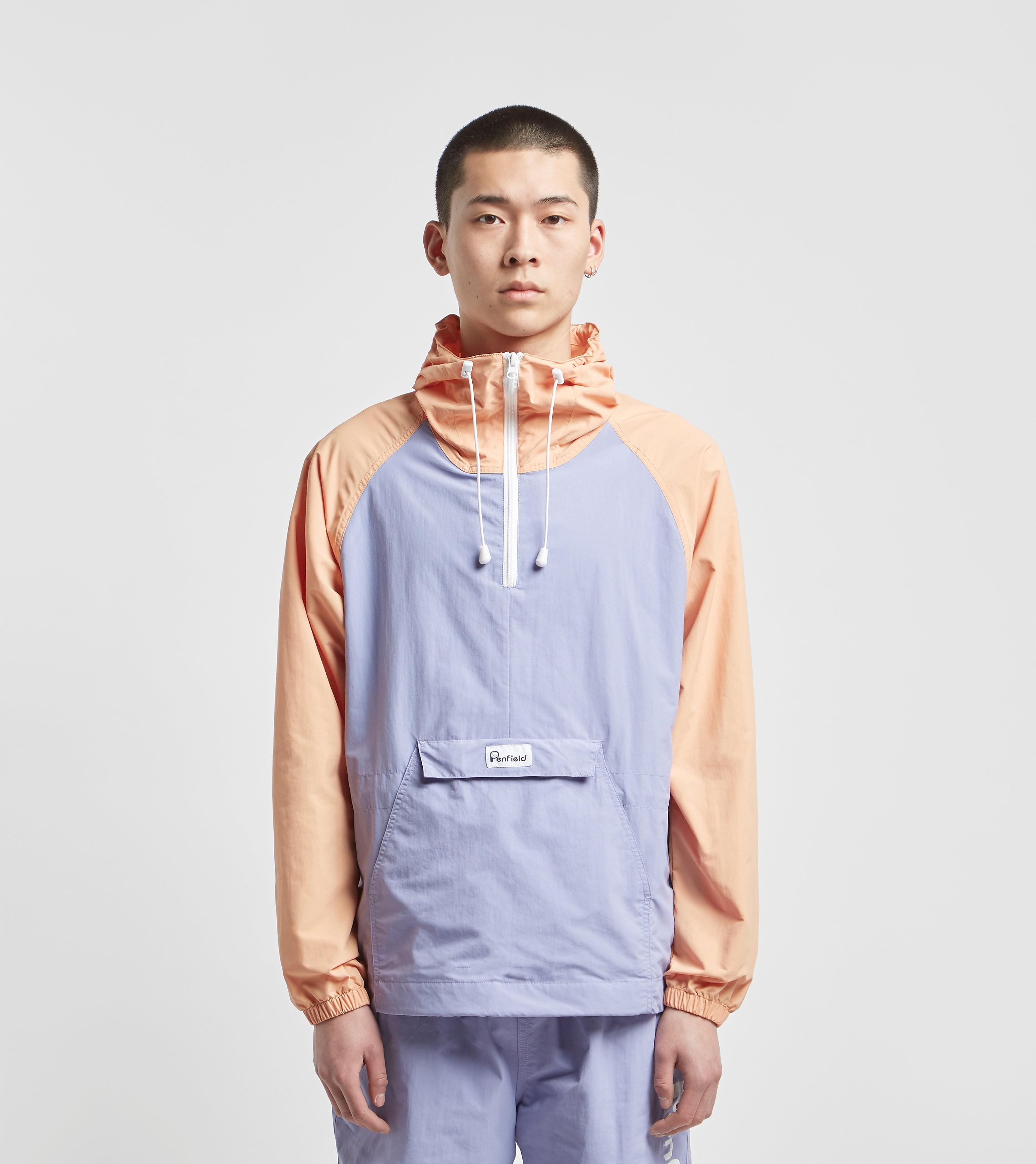 Penfield Pacjac Colourblock Packable Half Zip Jacket, Viola