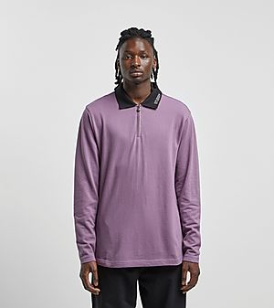 ea85abd4ded44 Stussy Lion Long Sleeve Zip Polo ...