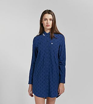Fred Perry Polka Dot Boyfriend Shirt Dress