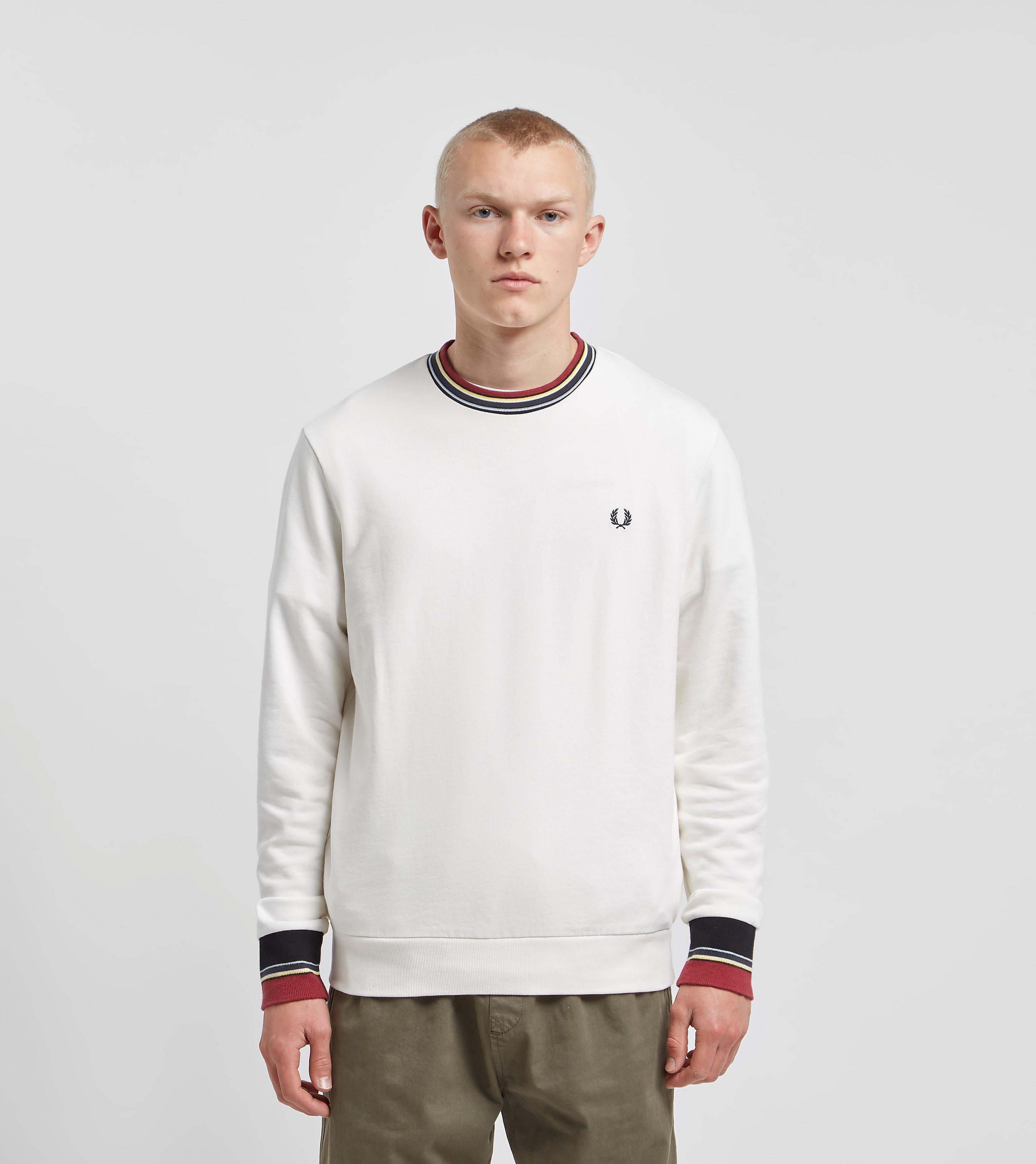 Fred Perry Striped Trim Sweatshirt White