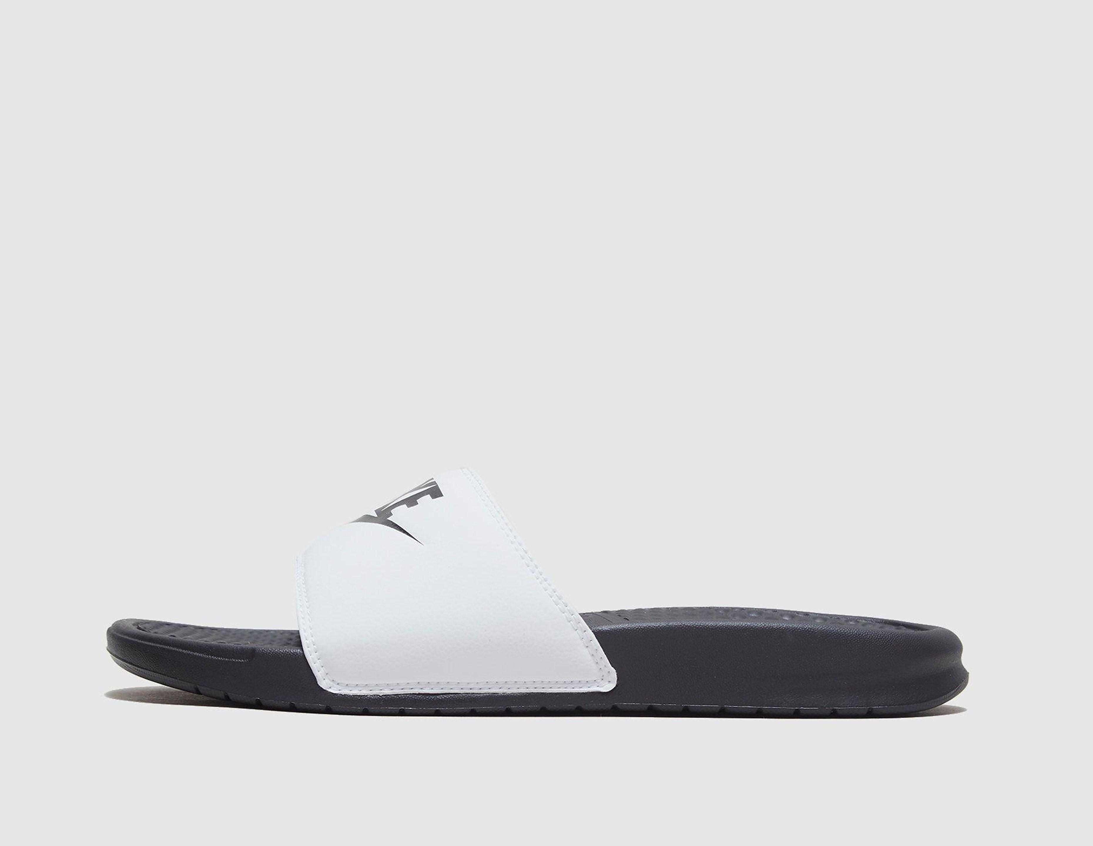 Nike Benassi Just Do It Sandaler, Hvid