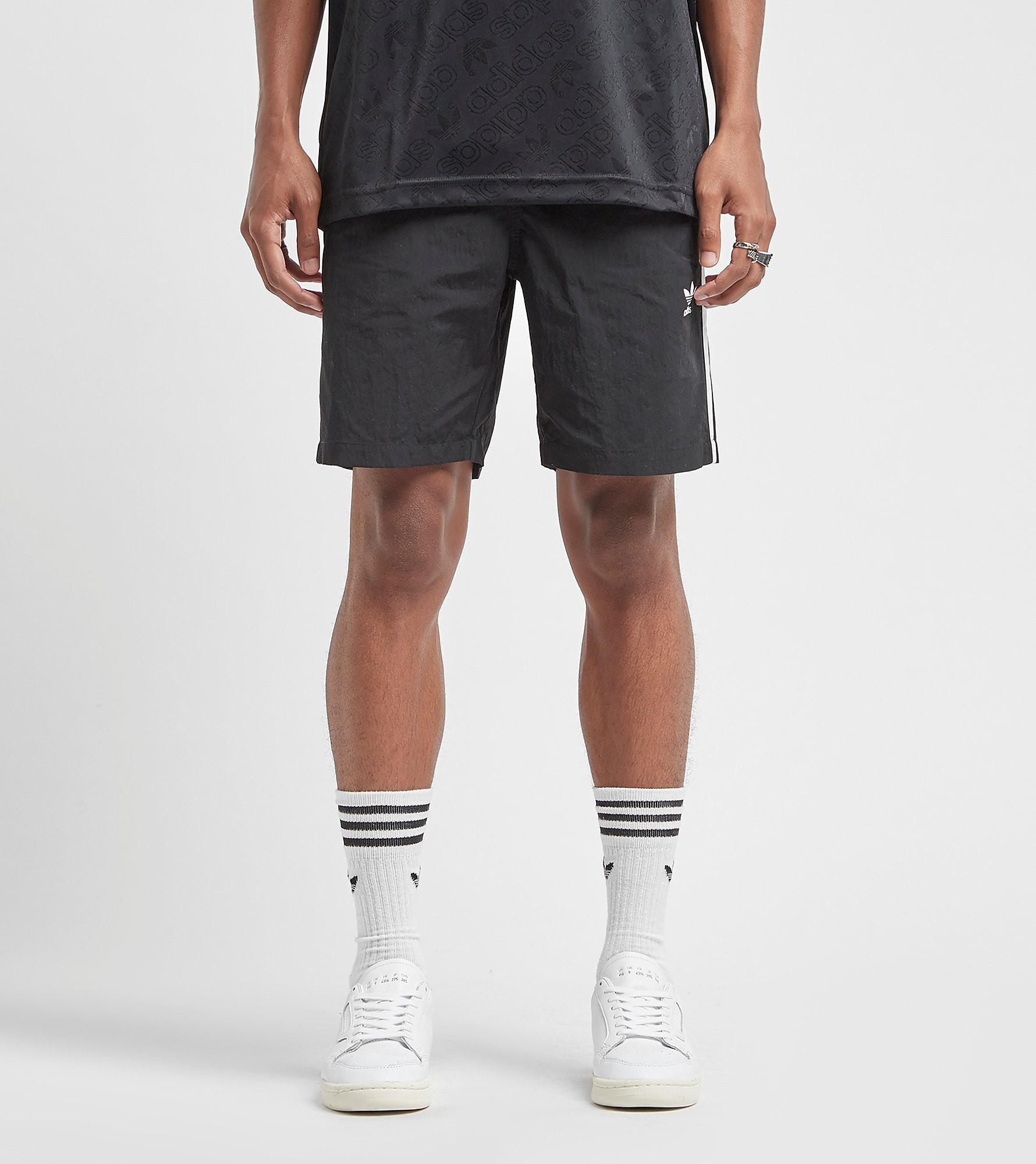 adidas Originals 3-Stripes Swim Shorts, Black