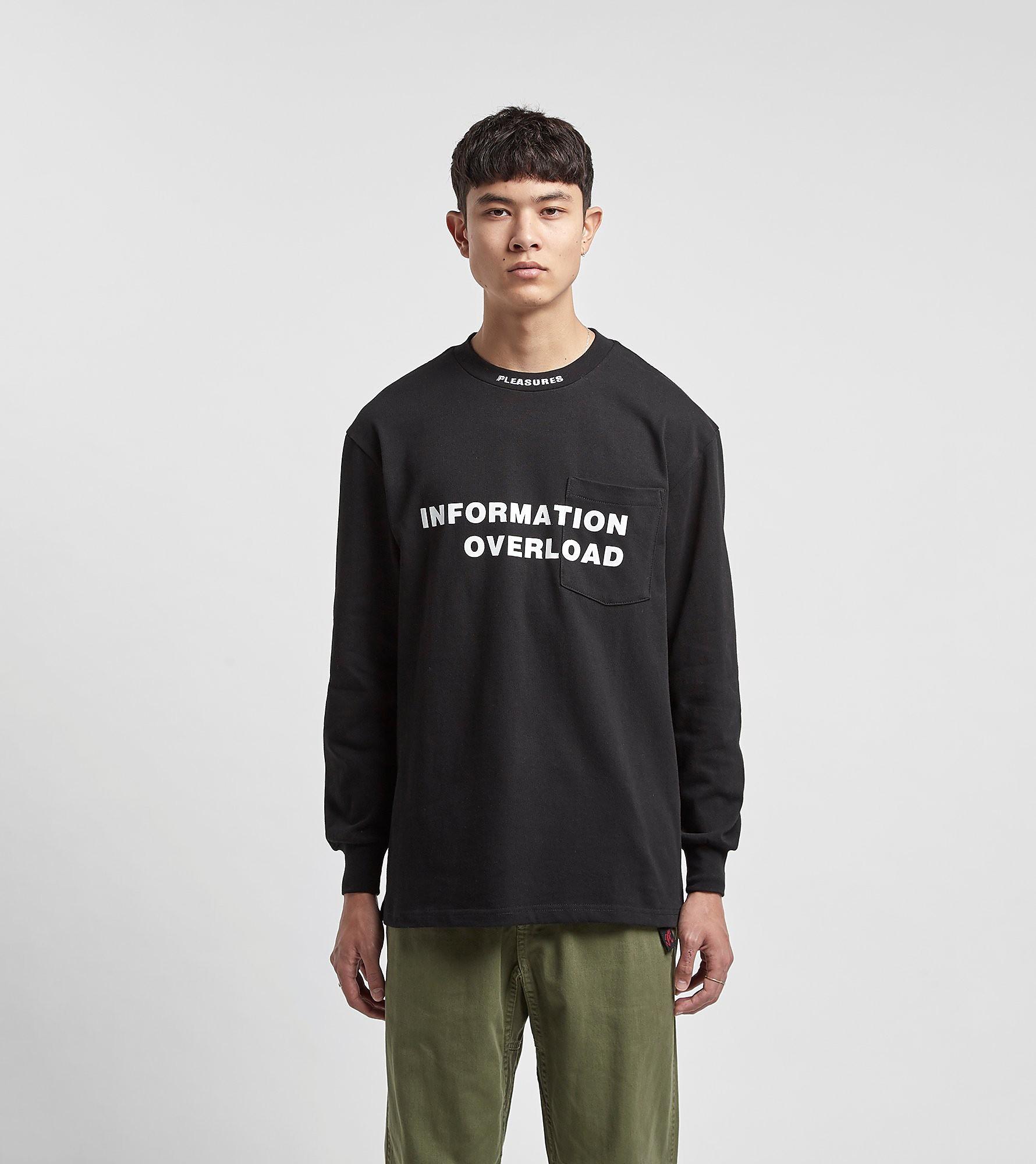 PLEASURES T-Shirt à Manches Longues, Noir