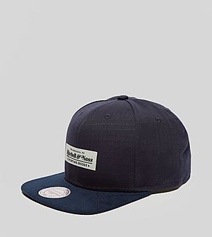 Mitchell & Ness Ripstop Suede Snapback Cap - size? Exclusive
