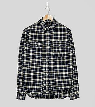 Diamond Supply Baker Plaid Long Sleeved Shirt