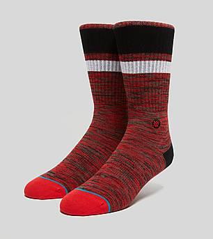 Stance Interlaced Socks Red