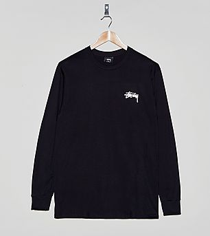 Stussy Stock Logo Long-Sleeved T-Shirt