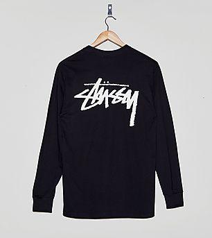 Stussy Stock Logo Long-Sleeved T-Shirt