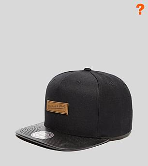 Mitchell & Ness Leather Visor Snapback Cap - size? Exclusive