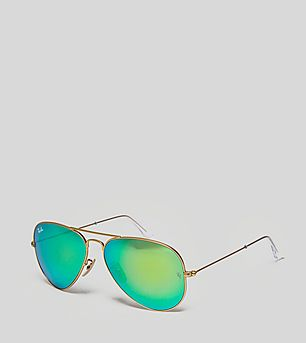 Ray-Ban Aviator Flash Lenses 'Green Flash' Sunglasses
