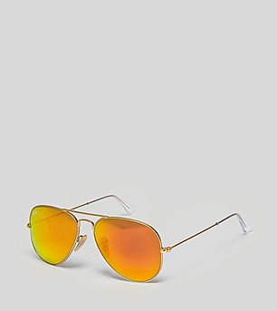 Ray-Ban Aviator Flash Lenses 'Orange Flash'