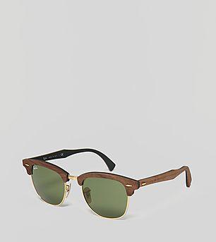 Ray-Ban Clubmaster Premium Wood G-15 Sunglasses