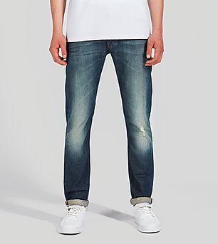 Lee Luke Slim Tapered Jeans 'Steep Green'