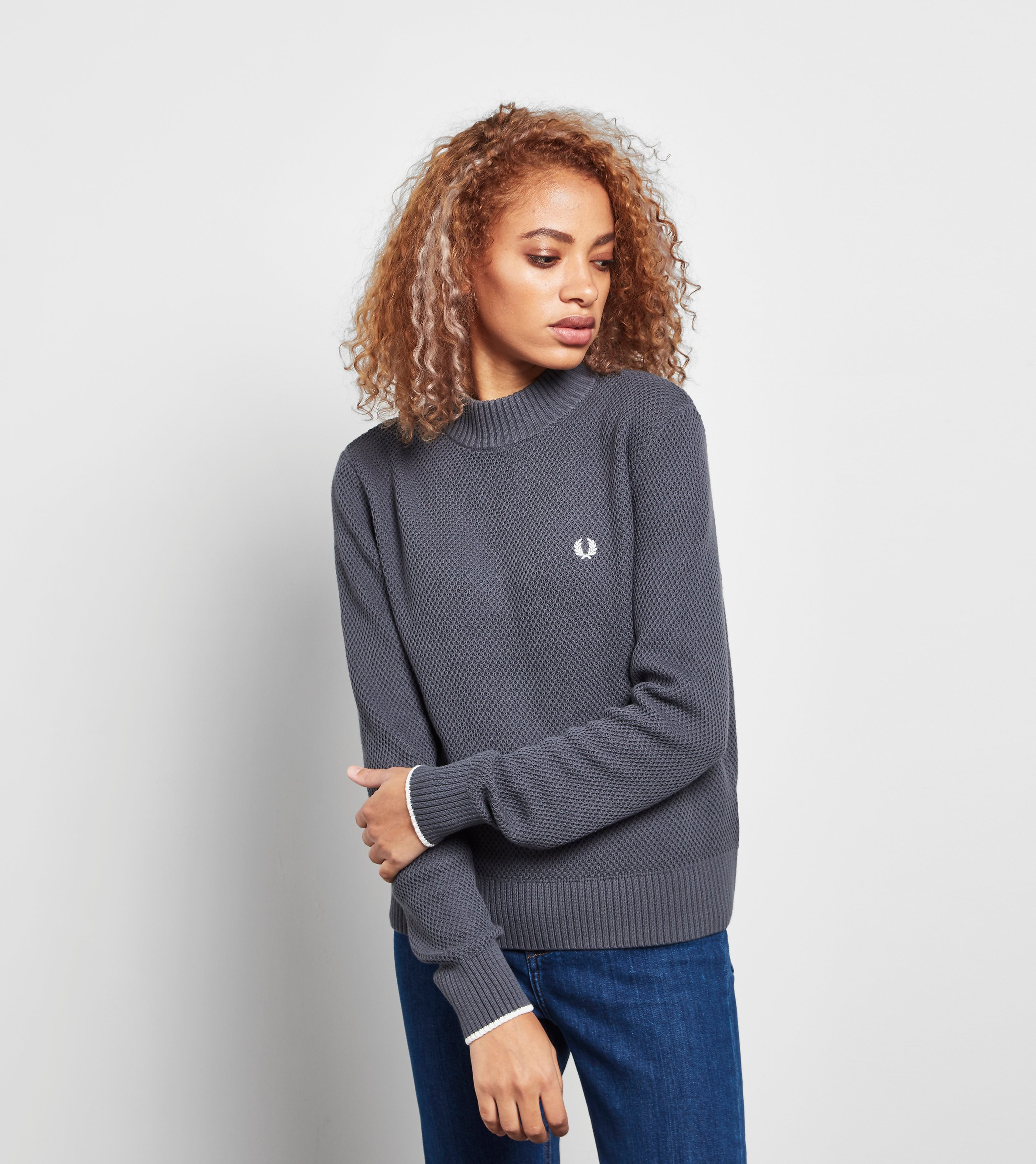 Fred Perry Turtle Neck Boxy Sweater