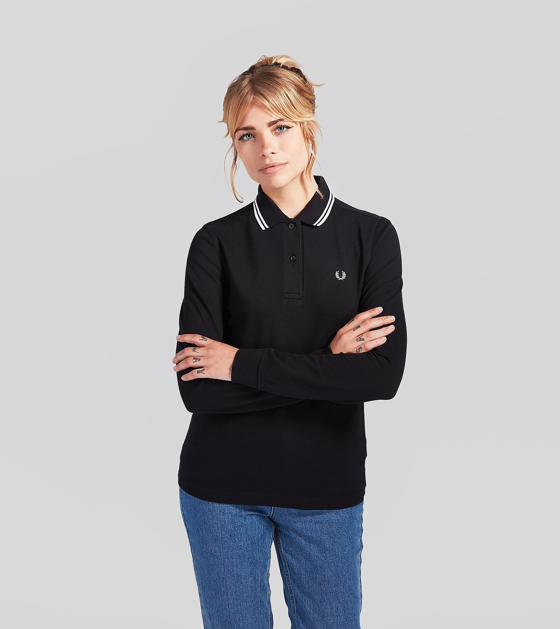 Fred Perry Long-Sleeved Twin Tip Polo