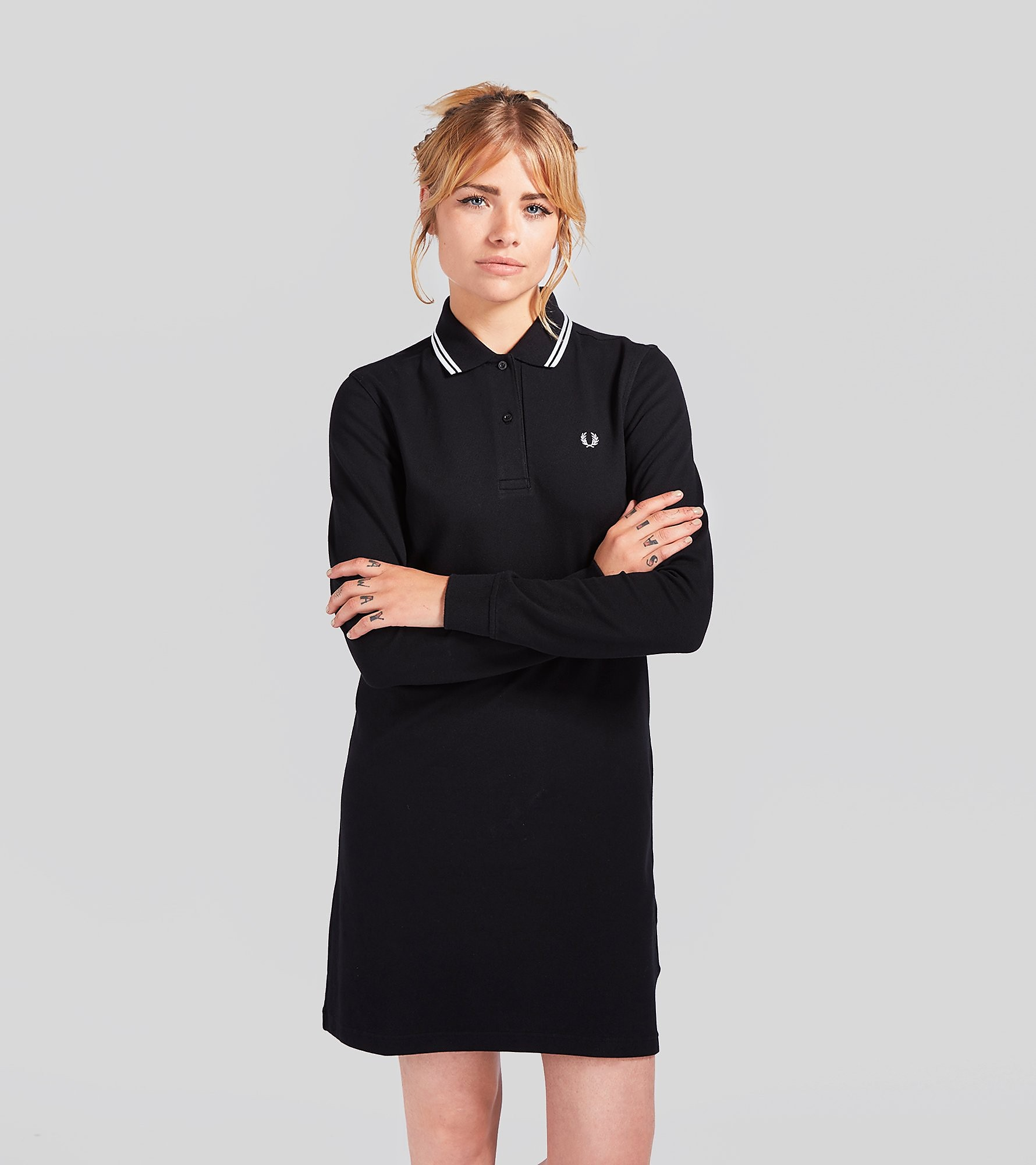 Fred Perry Long-Sleeved Pique Dress