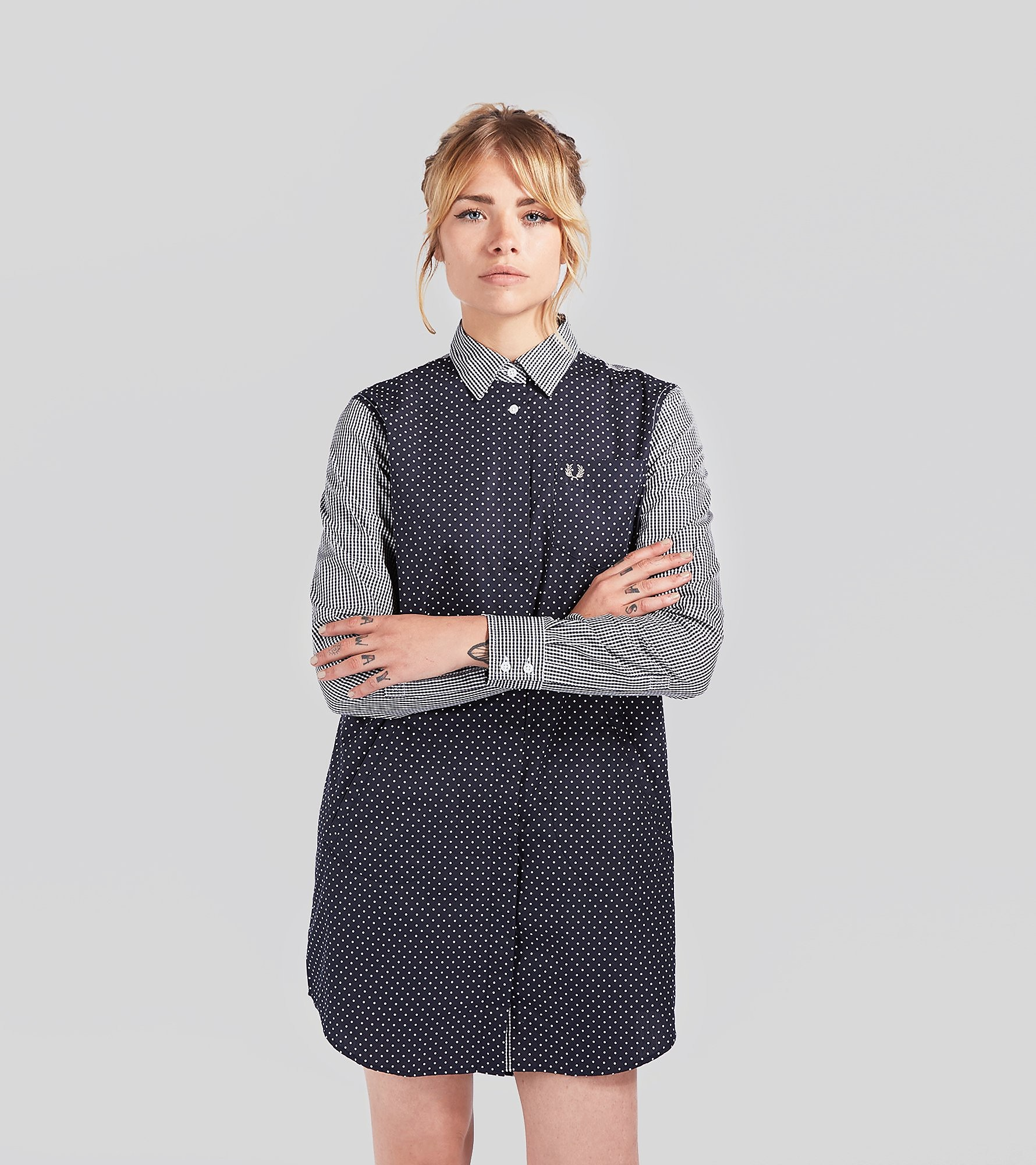 Fred Perry Gingham Polkadot Dress