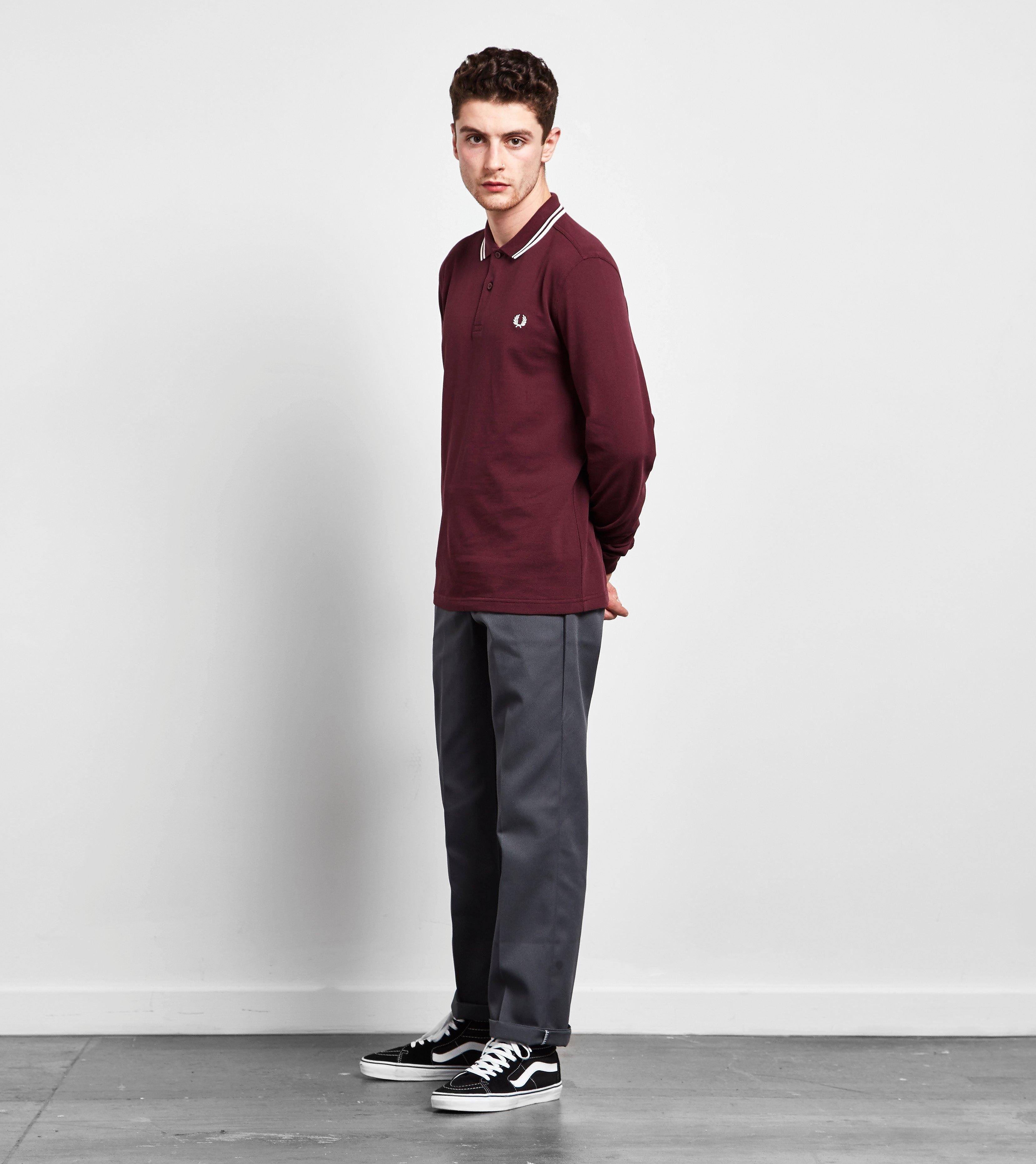Fred Perry Long-Sleeved Twin Tipped Polo Shirt