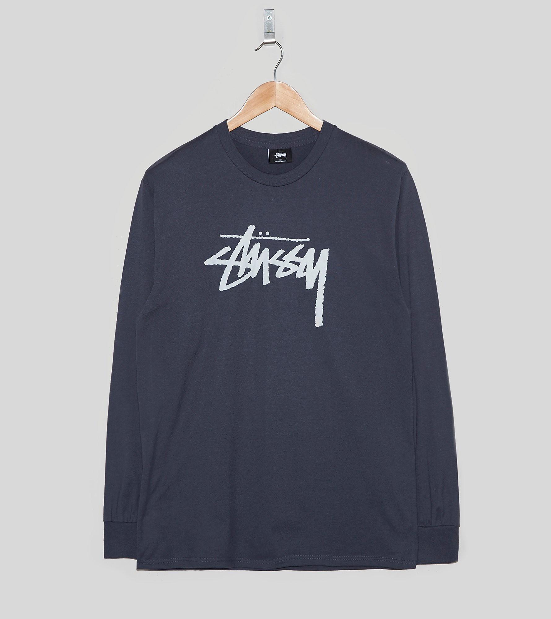Stussy Long-Sleeved Stock Logo T-Shirt