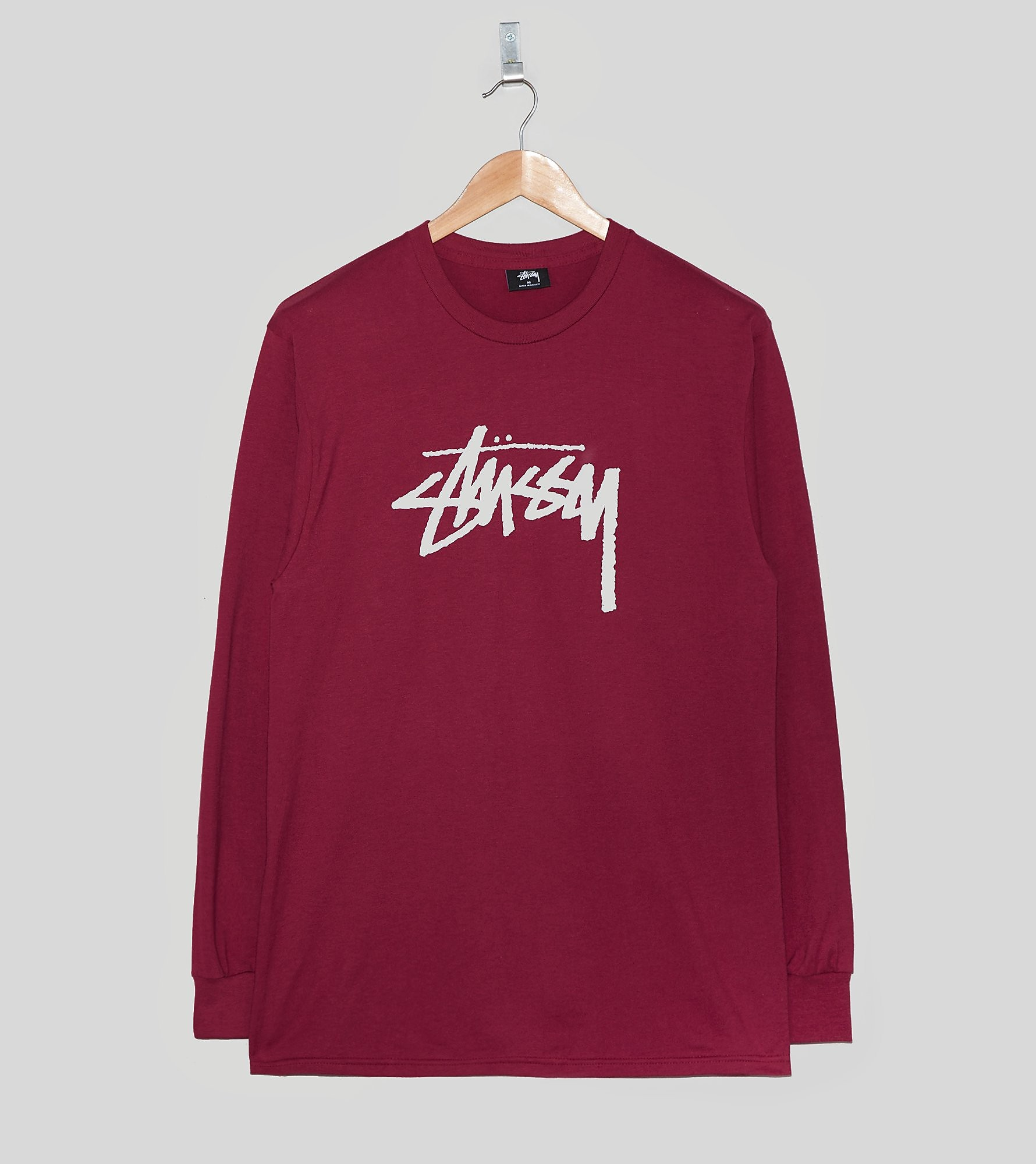 Stussy Long-Sleeved Stock Logo T-Shirt