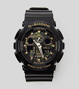 G-Shock GA-100CF Green Camouflage