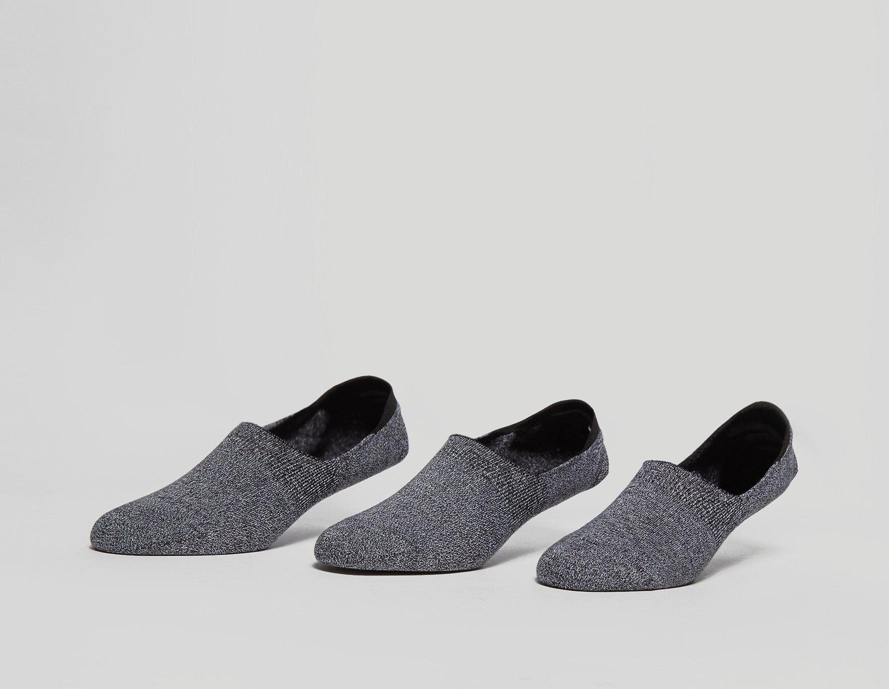 size? Essentials 3 Pack 'No Show' Socks