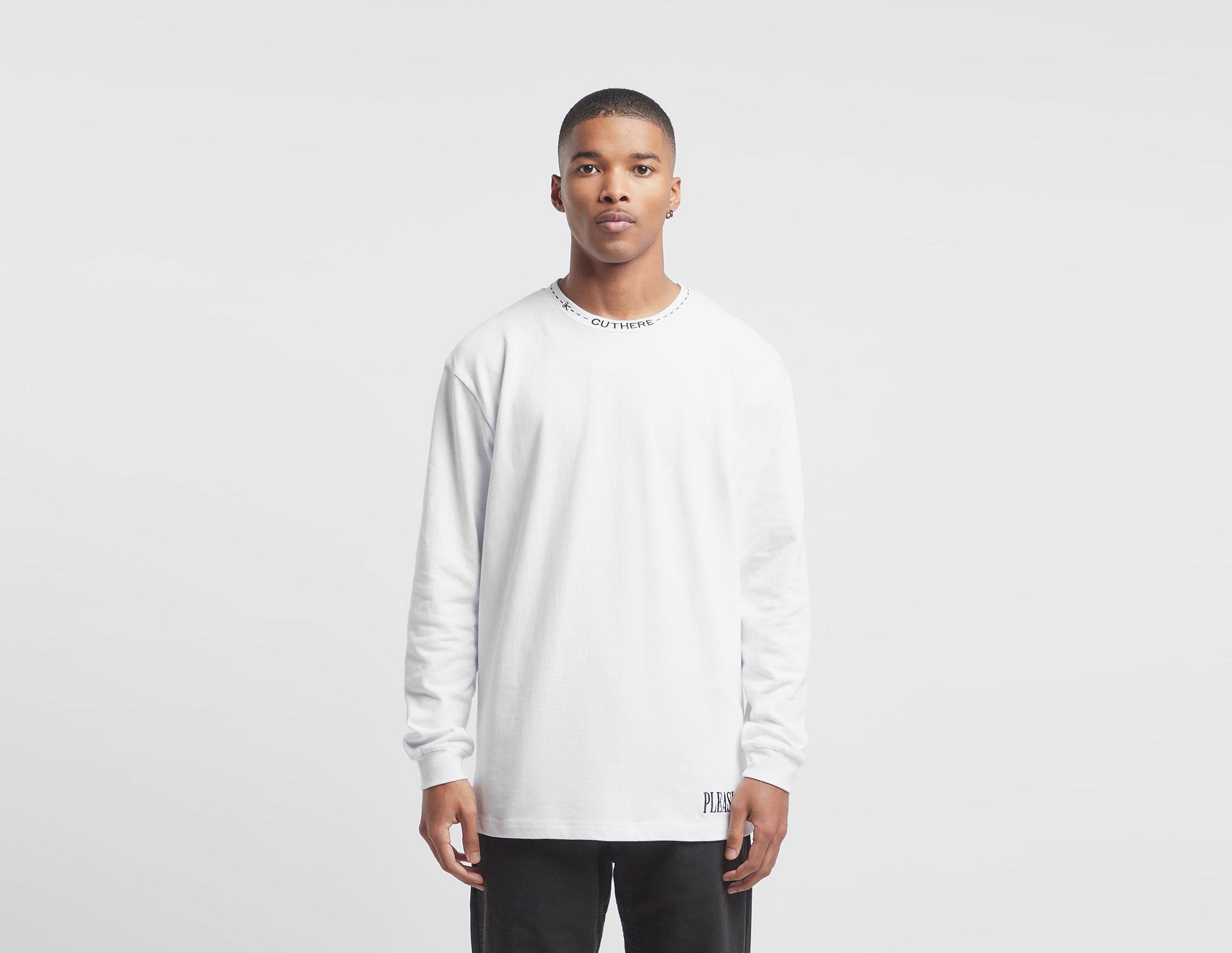 PLEASURES T-Shirt à Manches Longues Cut Here, blanc